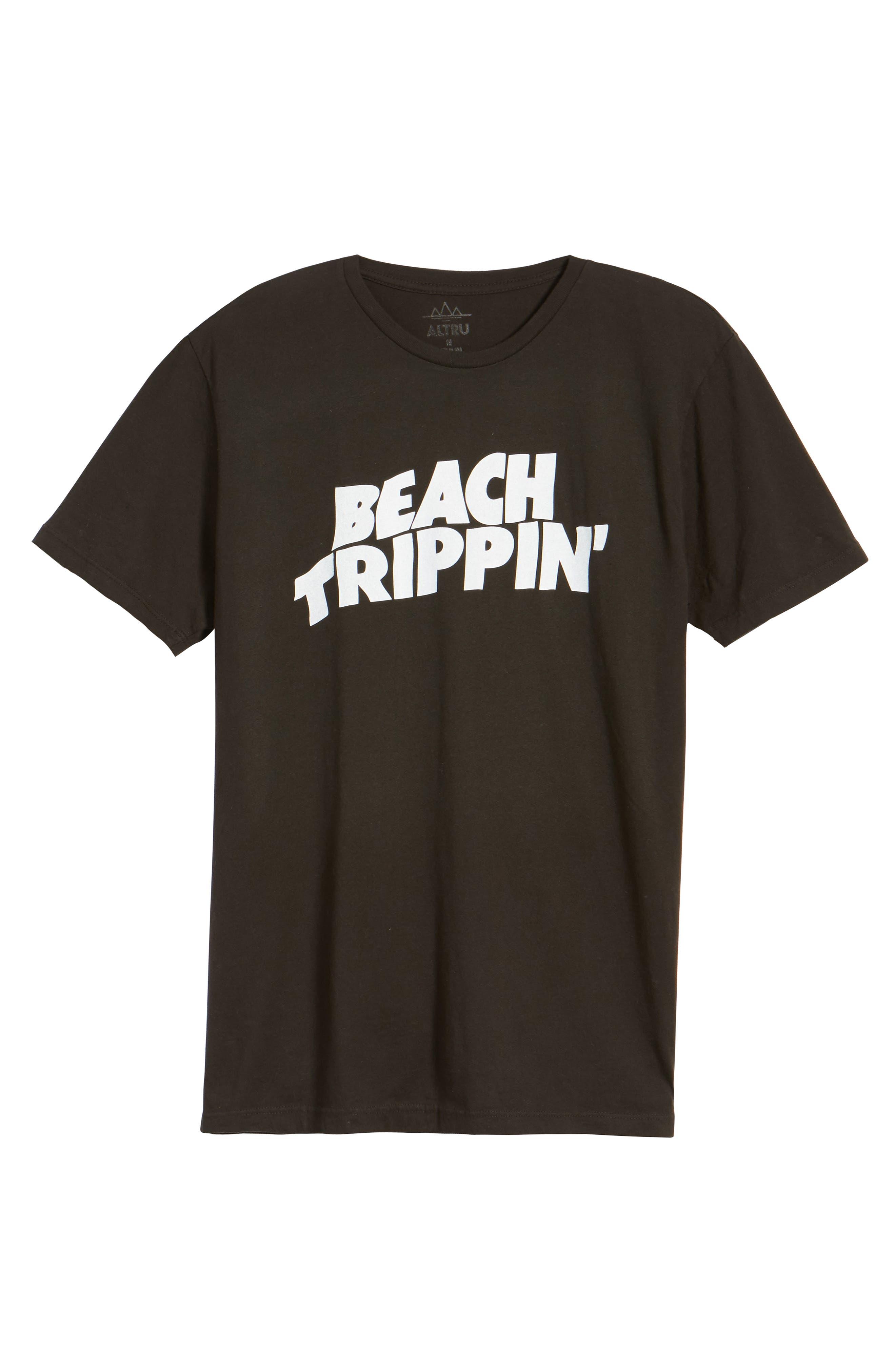 Beach Trippin' Graphic T-Shirt,                             Alternate thumbnail 6, color,                             090