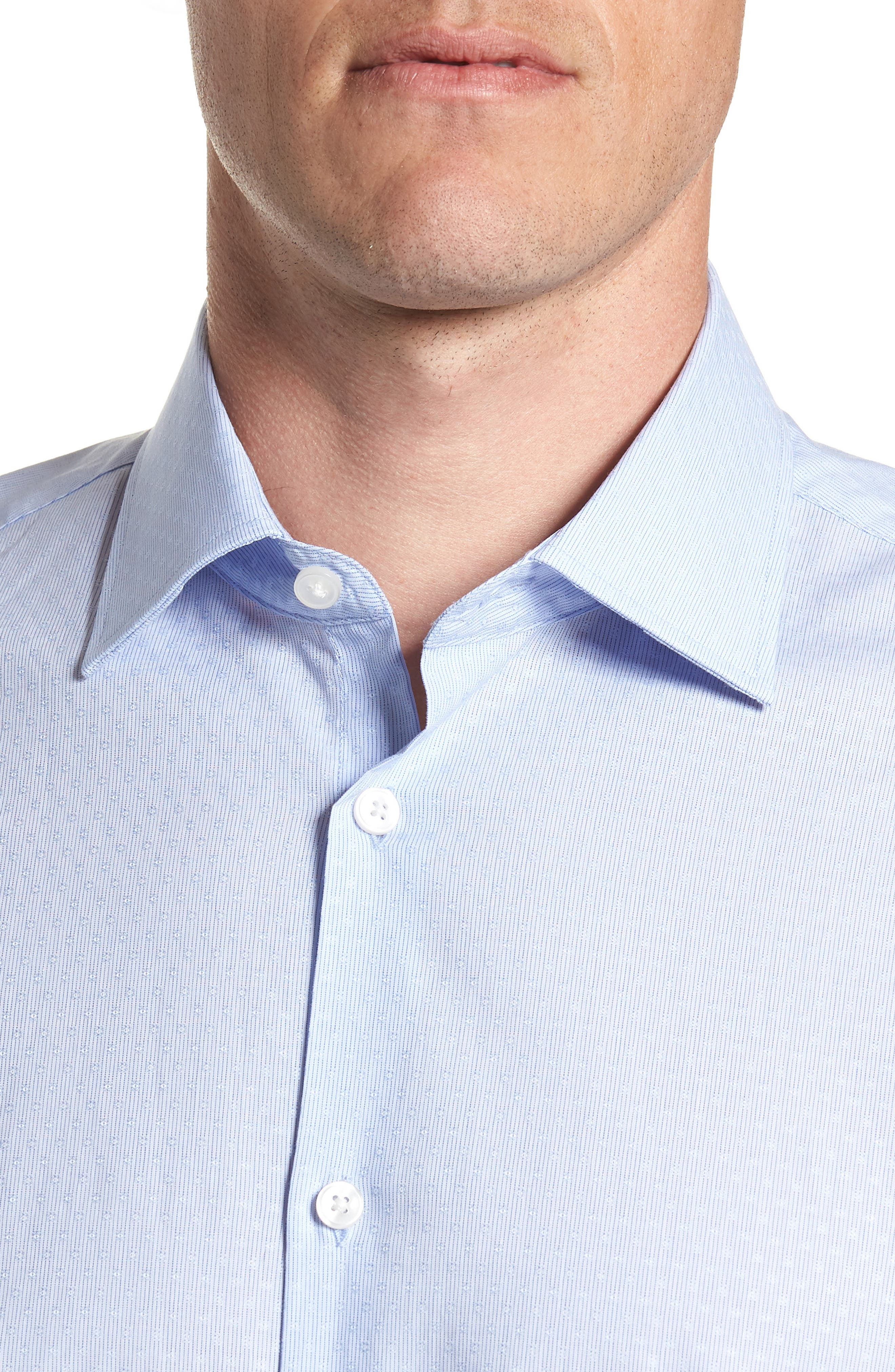 Regular Fit Stripe Dress Shirt,                             Alternate thumbnail 2, color,                             CLOUD