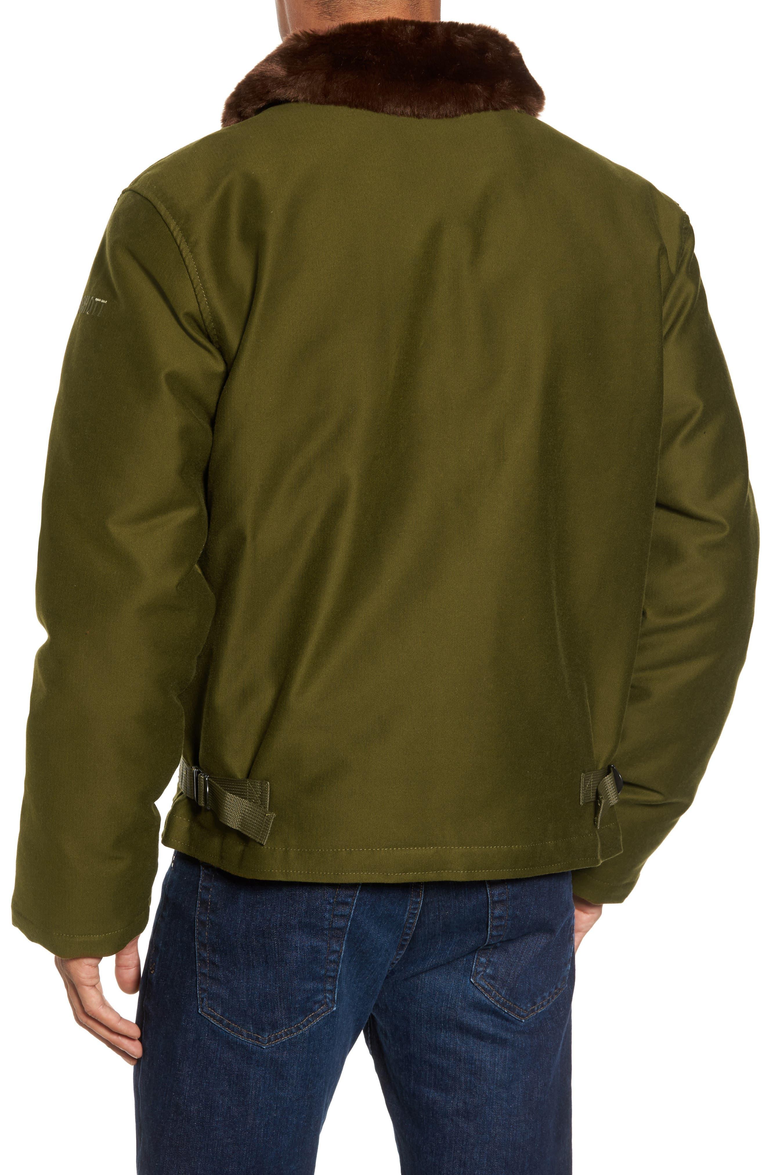 SCHOTT NYC,                             Faux Fur Collar Water-Repellent Corduroy Down Jacket,                             Alternate thumbnail 2, color,                             252
