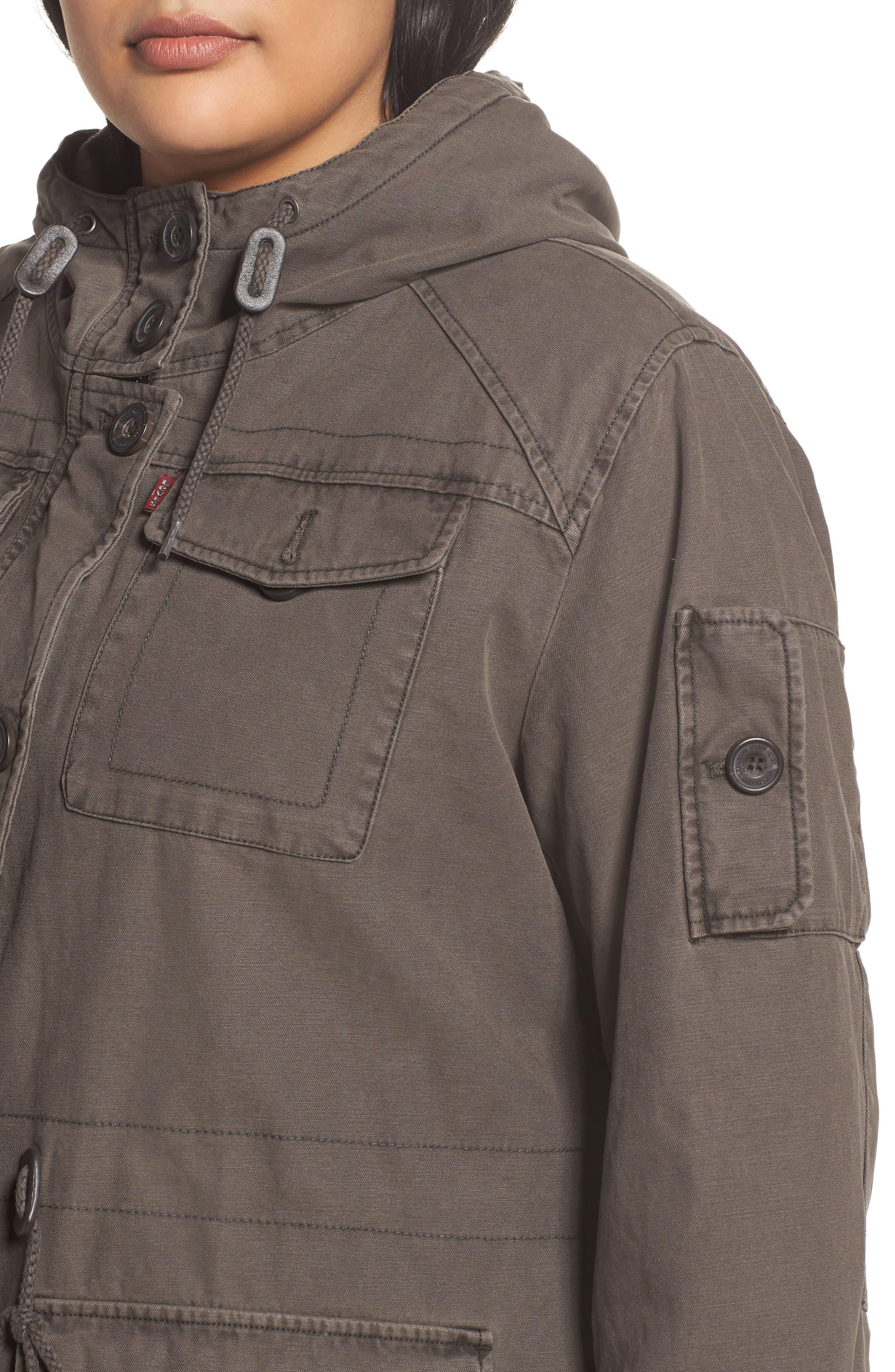 Hooded Cotton Utility Jacket,                             Alternate thumbnail 11, color,