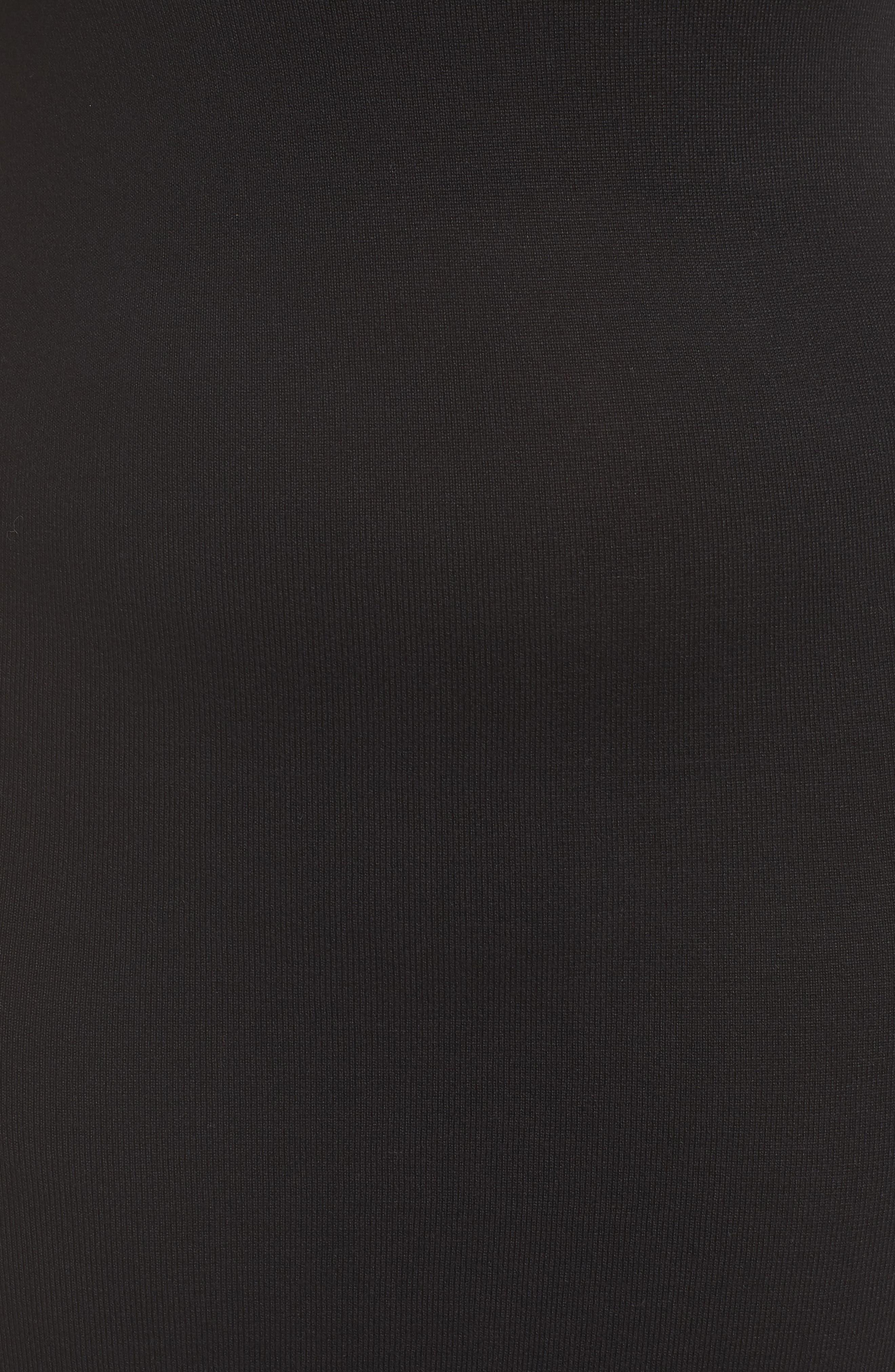 Stud Detail Body-Con Dress,                             Alternate thumbnail 6, color,                             BLACK