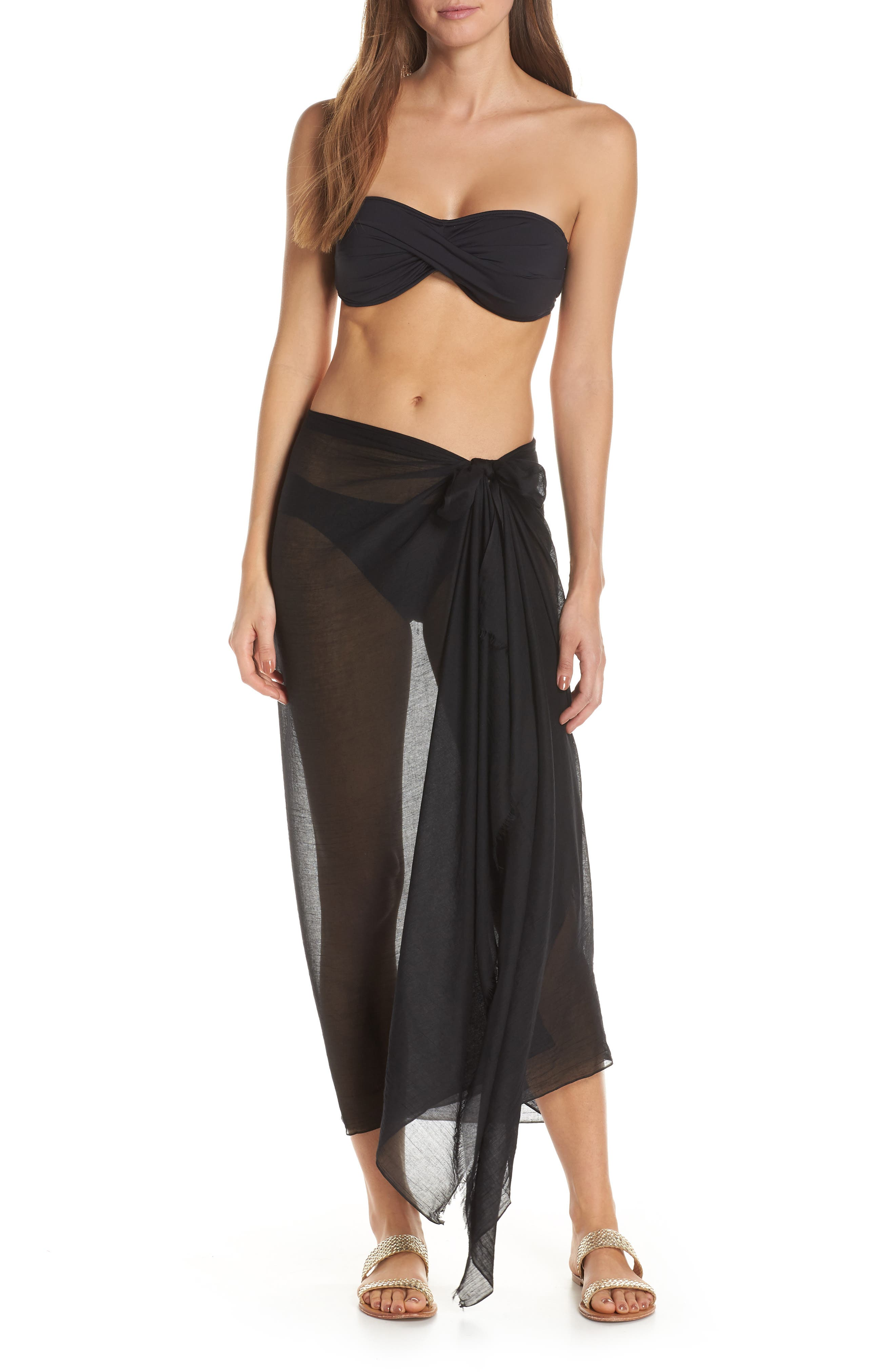POOL TO PARTY Sarong Cover-Up, Main, color, 001