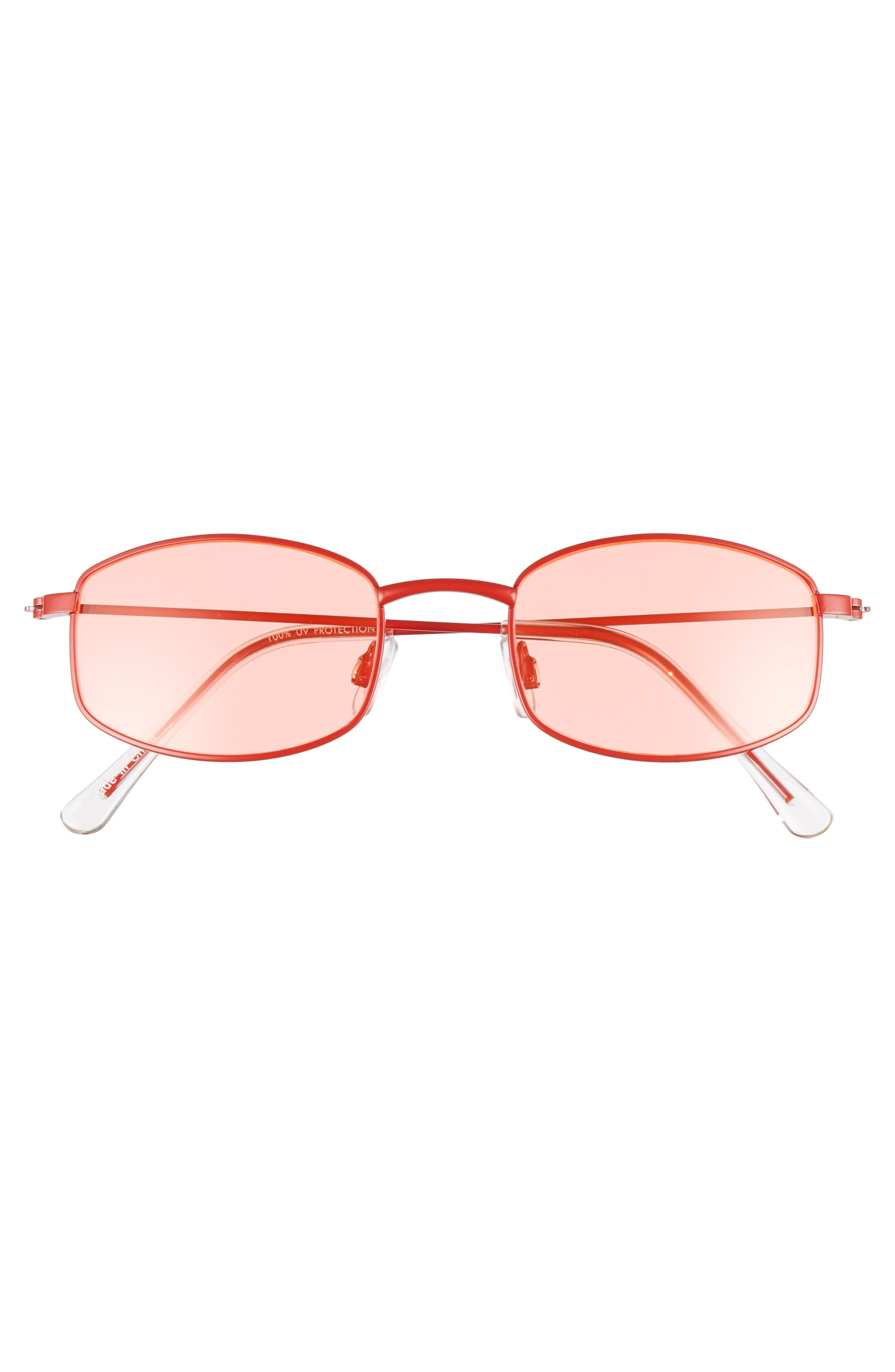 Mini 55mm Square Sunglasses,                             Alternate thumbnail 3, color,                             RED