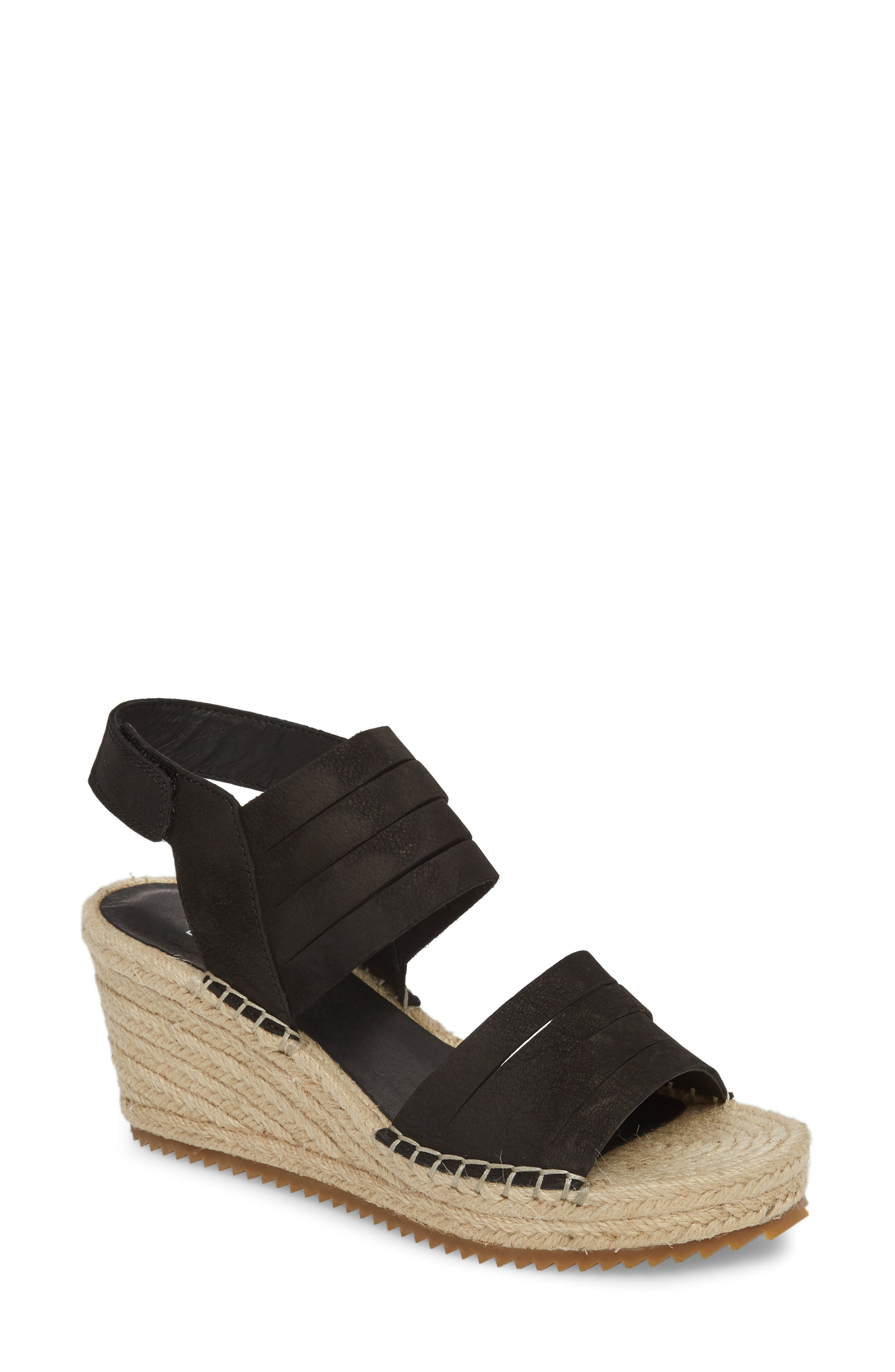 Largo Espadrille Wedge Sandal,                         Main,                         color, 001