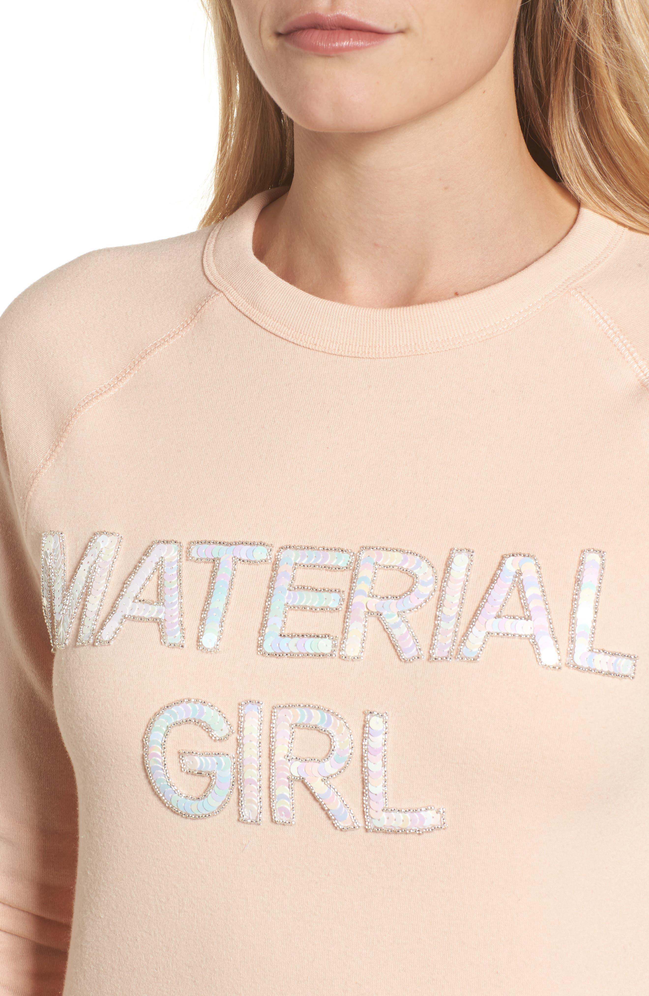 Material Girl Sweatshirt,                             Alternate thumbnail 4, color,                             650