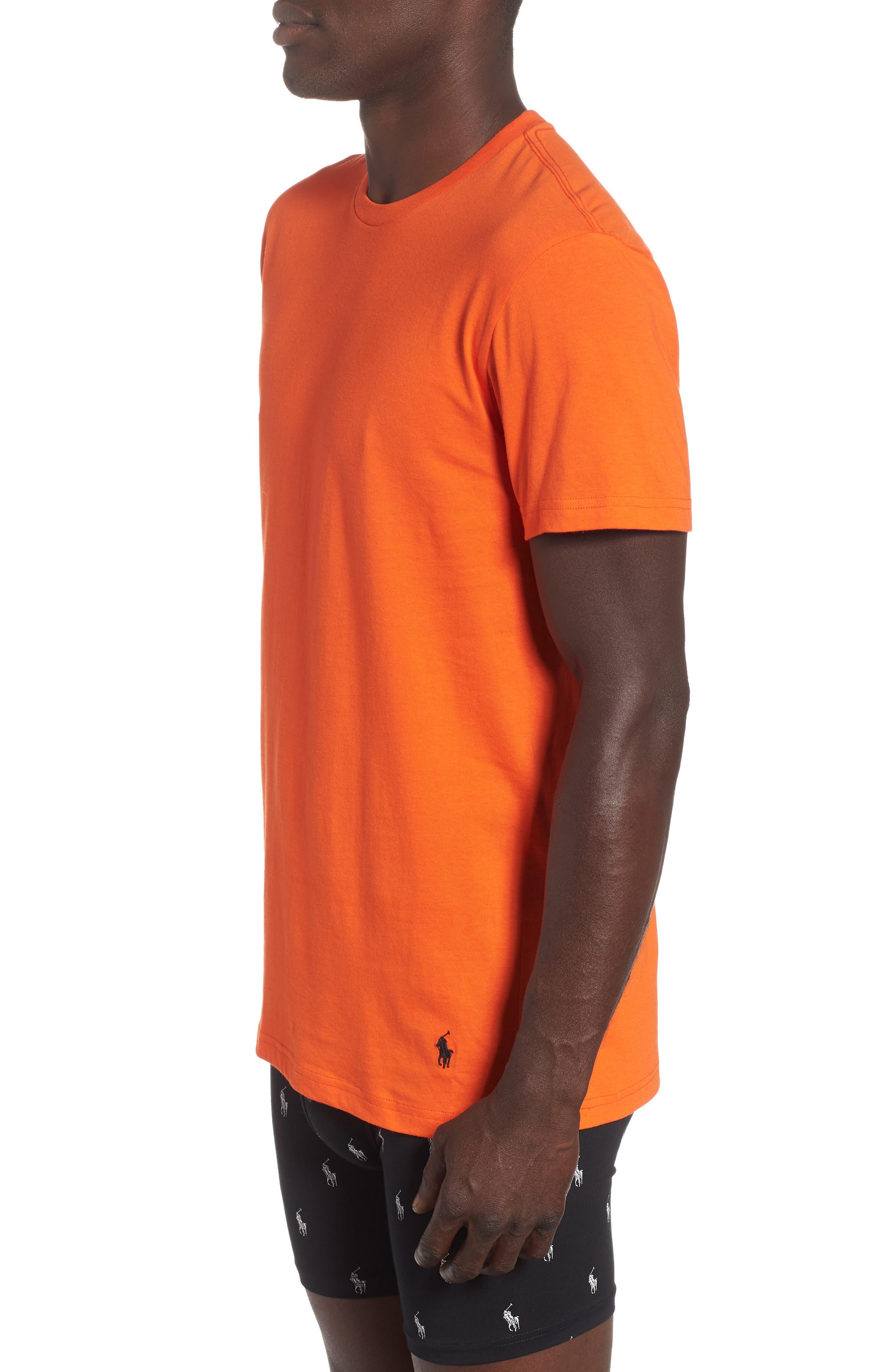 3-Pack Classic Fit T-Shirts,                             Alternate thumbnail 4, color,                             ORANGE/ GREEN/ ROYAL
