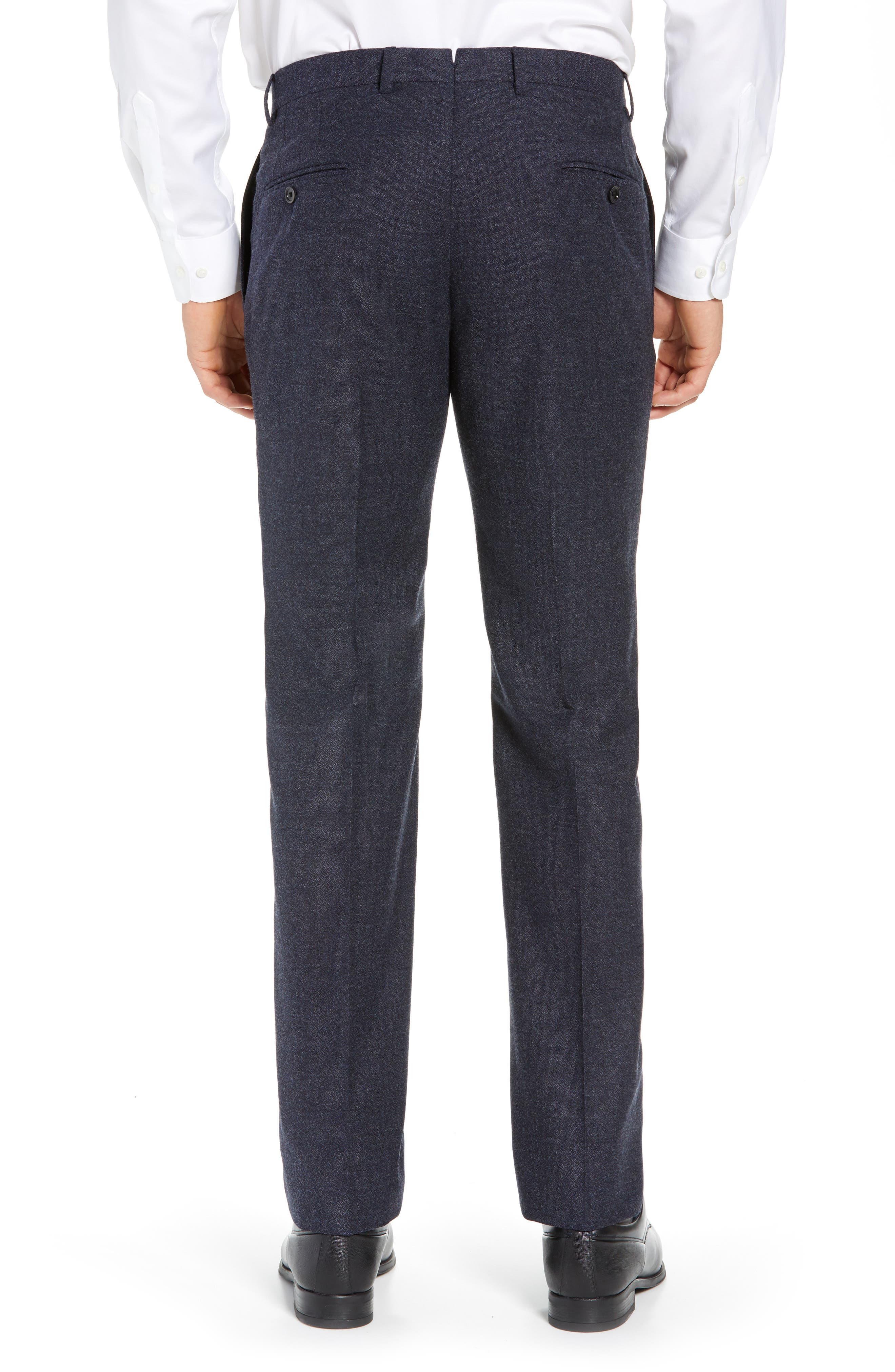 HICKEY FREEMAN,                             Classic Fit Solid Trousers,                             Alternate thumbnail 2, color,                             GREY