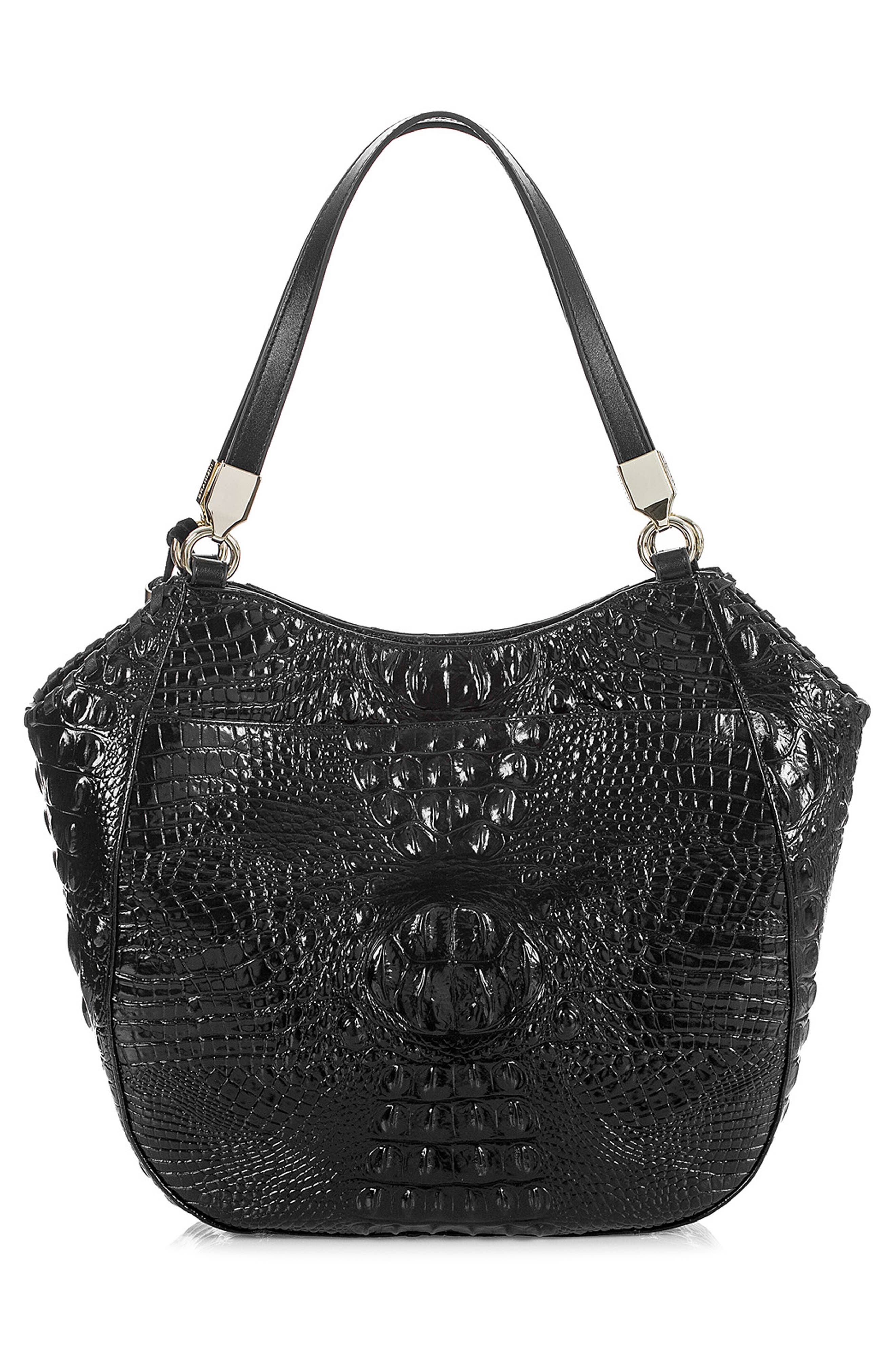 Marianna Leather Tote,                             Alternate thumbnail 3, color,                             BLACK