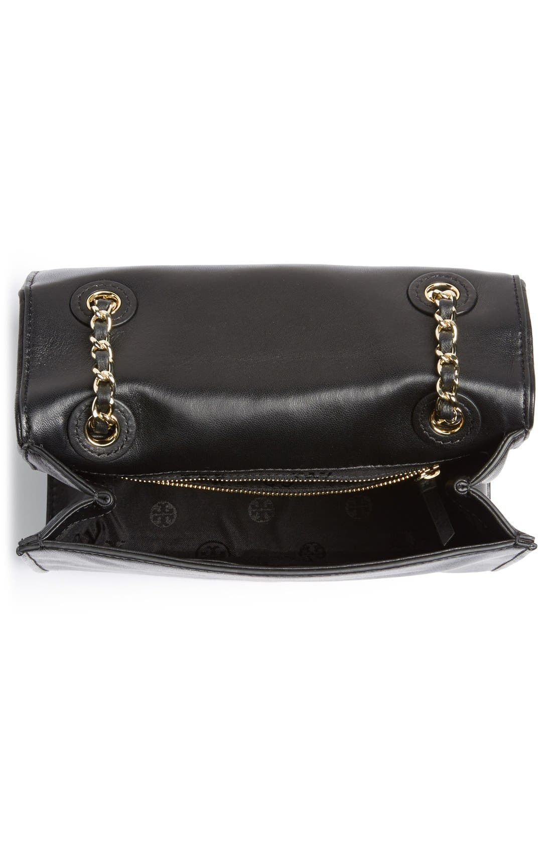 'Medium Fleming' Leather Shoulder Bag,                             Alternate thumbnail 5, color,                             001