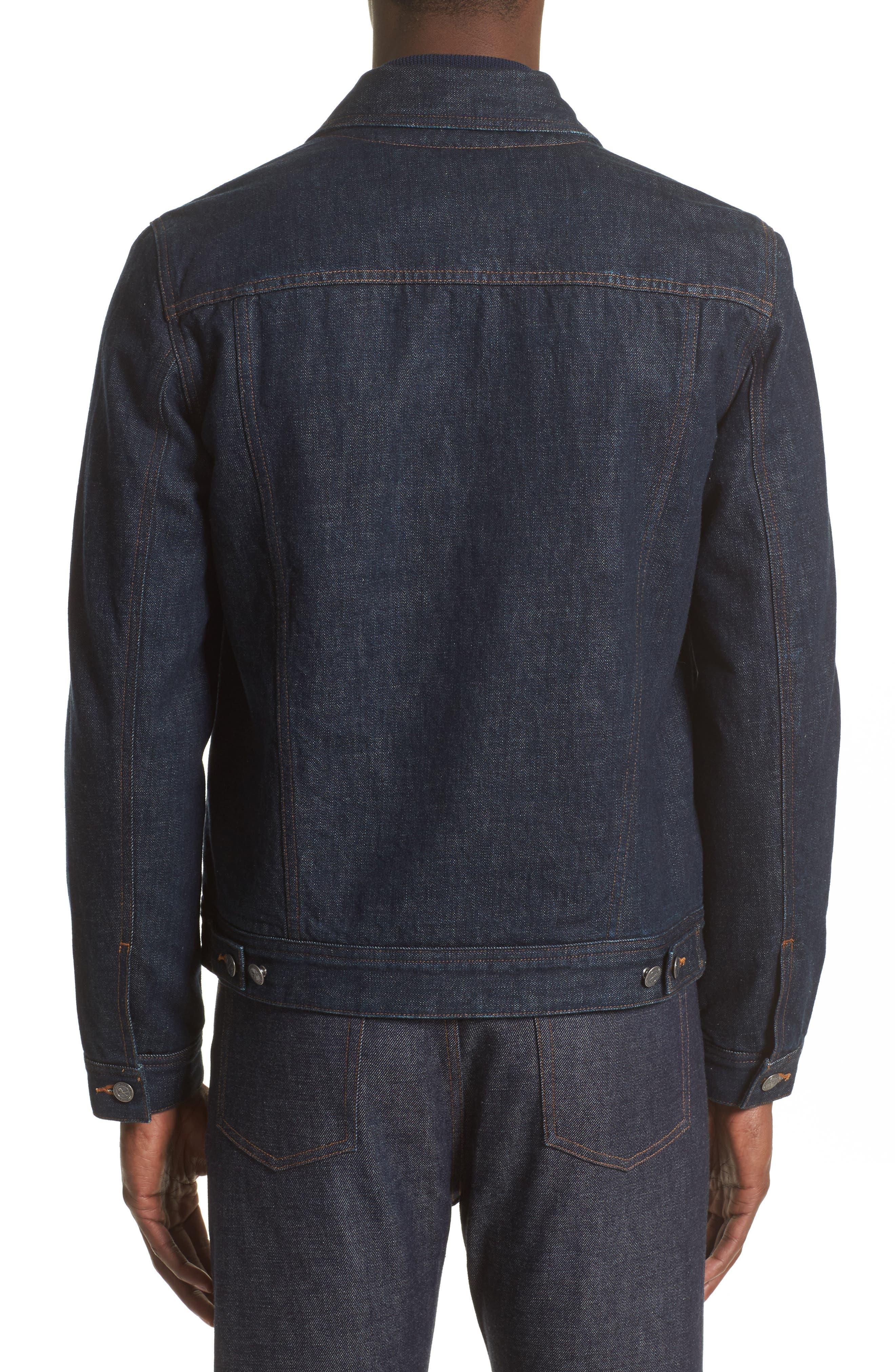 Denim Shirt Jacket,                             Alternate thumbnail 3, color,                             468