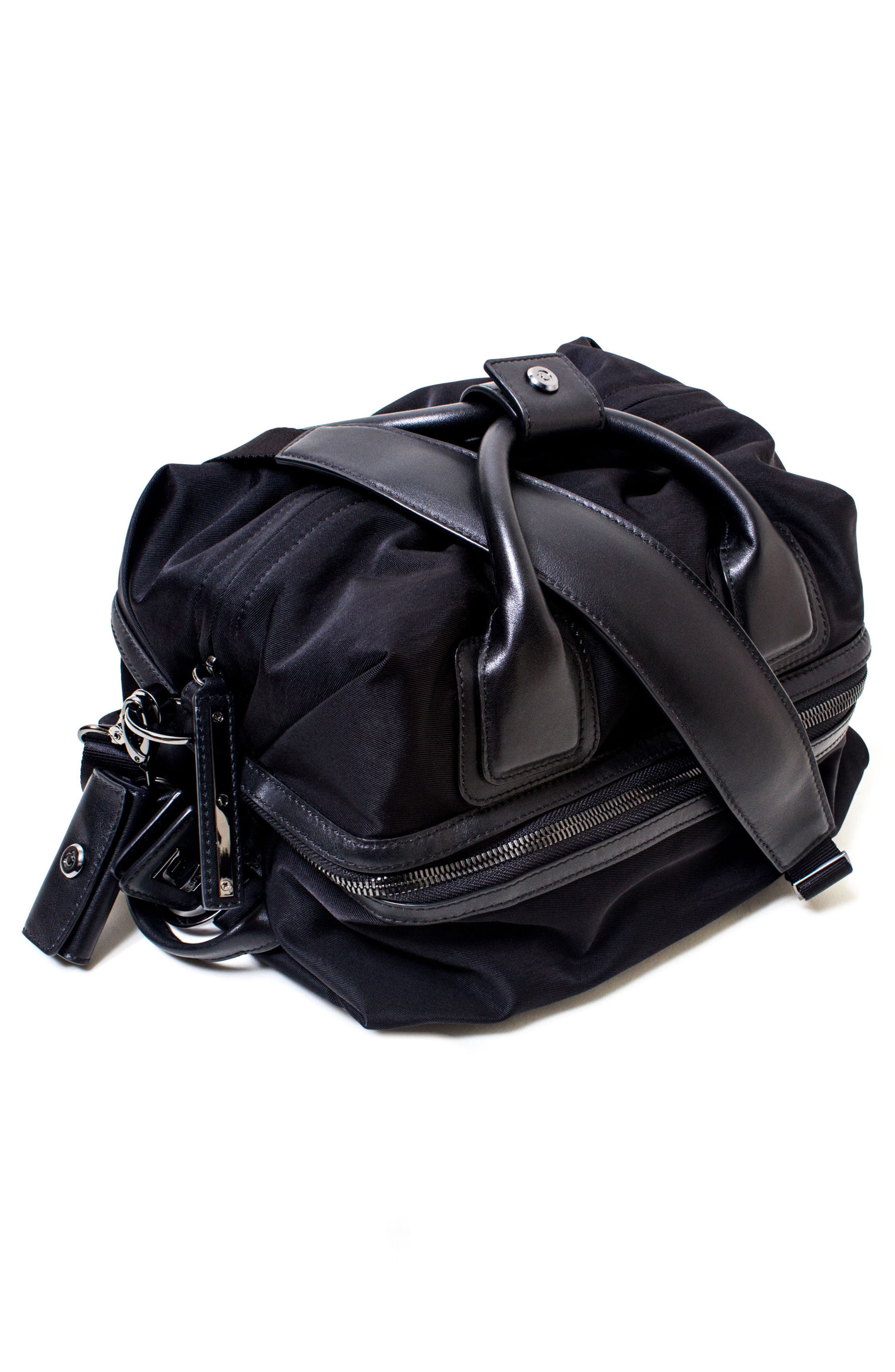 Studio Duffel Backpack,                             Alternate thumbnail 10, color,                             BLACK/ GOLD