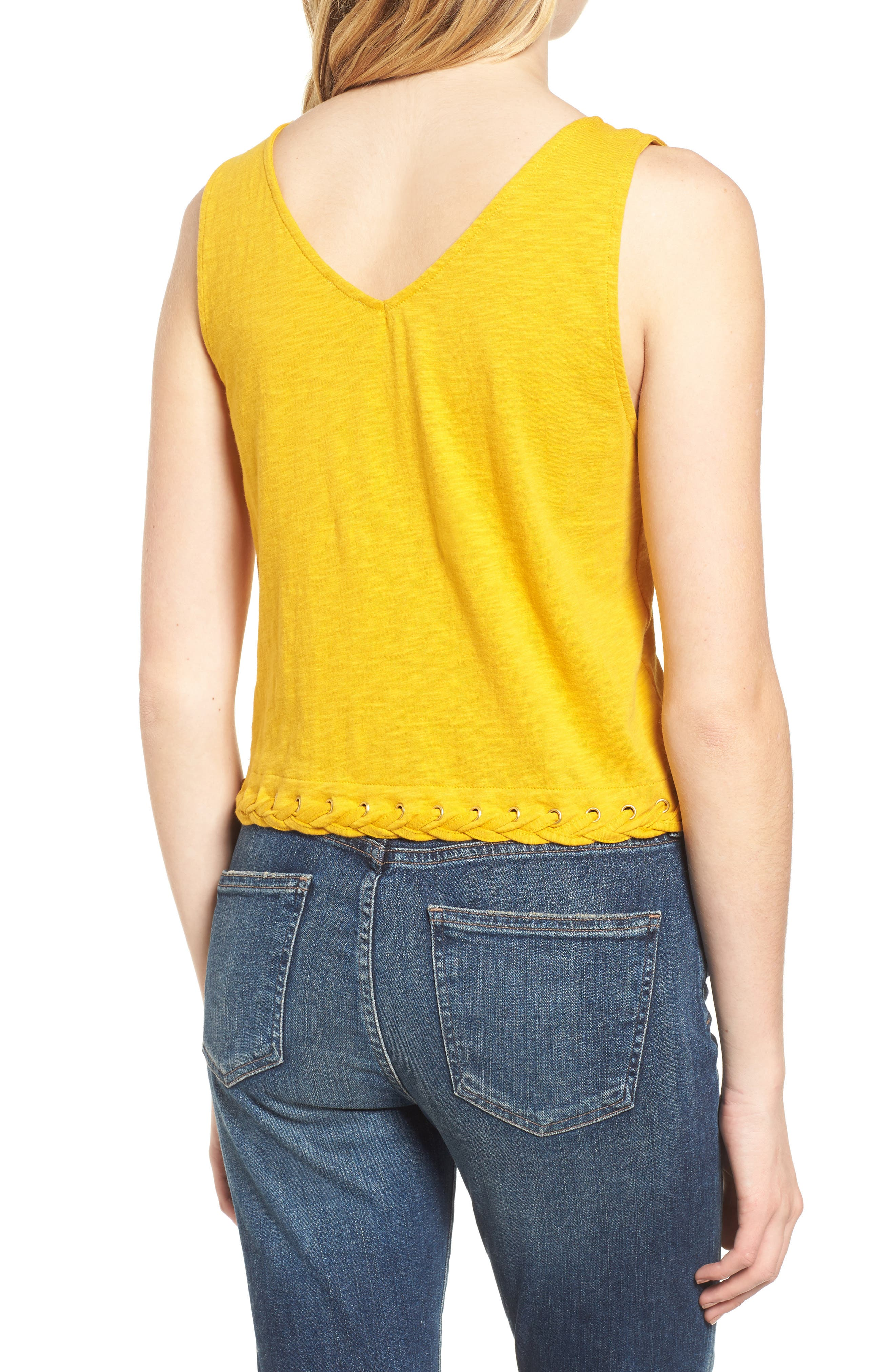 Laced Hem Tank,                             Alternate thumbnail 2, color,                             700