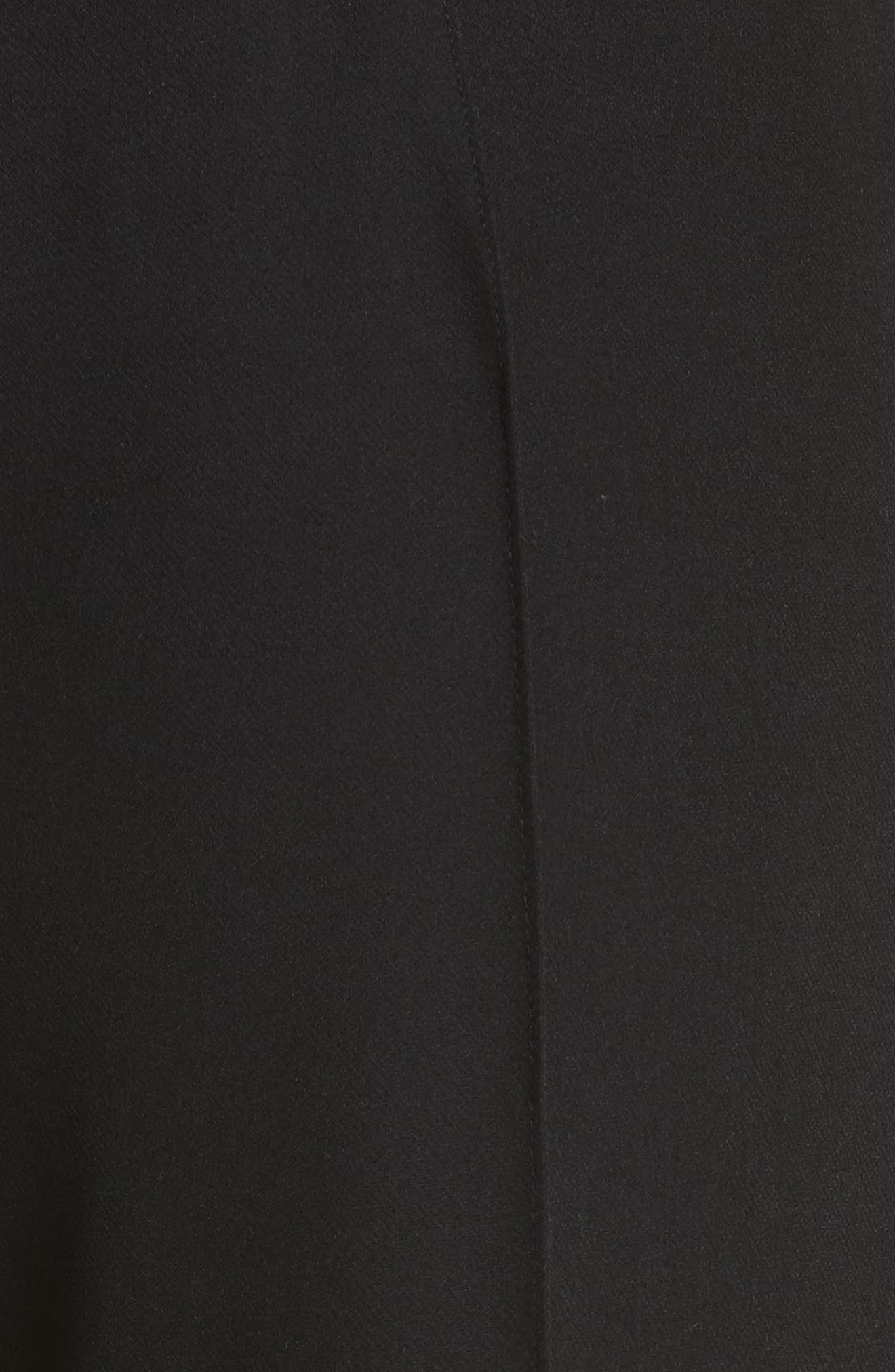 Hayden Crop Wide Leg Pants,                             Alternate thumbnail 5, color,                             BLACK