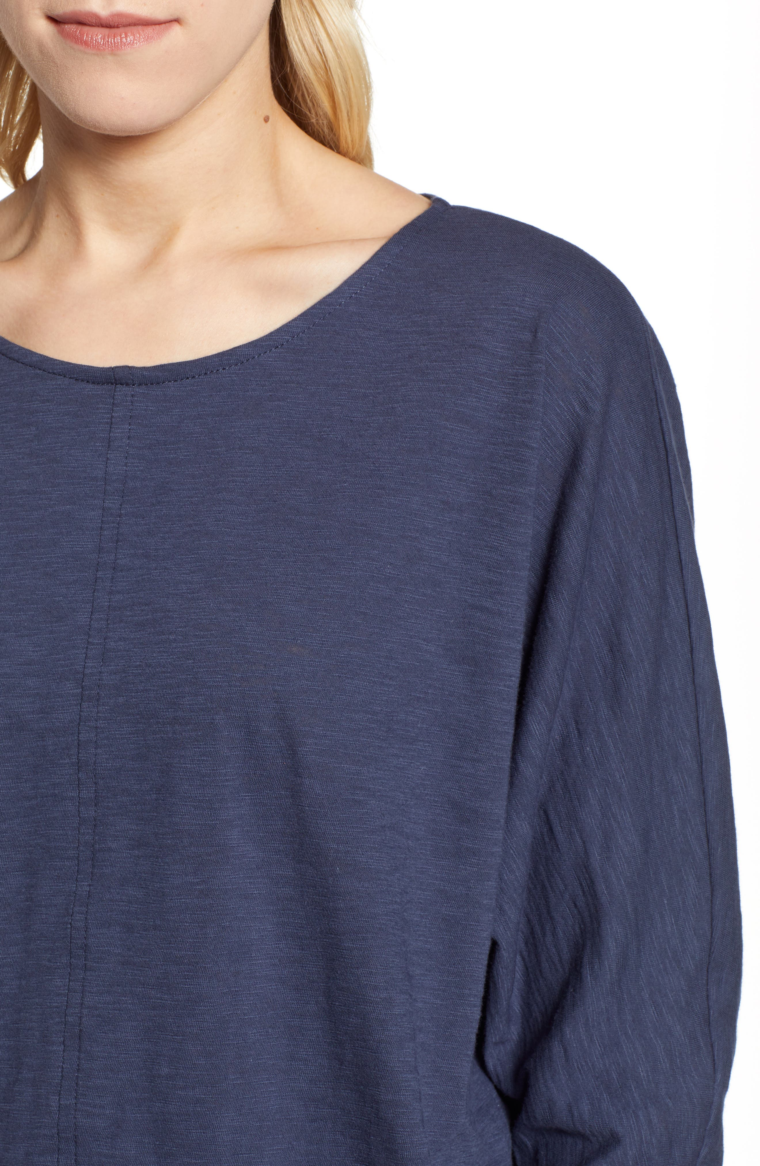 CASLON<SUP>®</SUP>,                             Off-Duty Dolman Sleeve Tee,                             Alternate thumbnail 4, color,                             NAVY PEACOAT