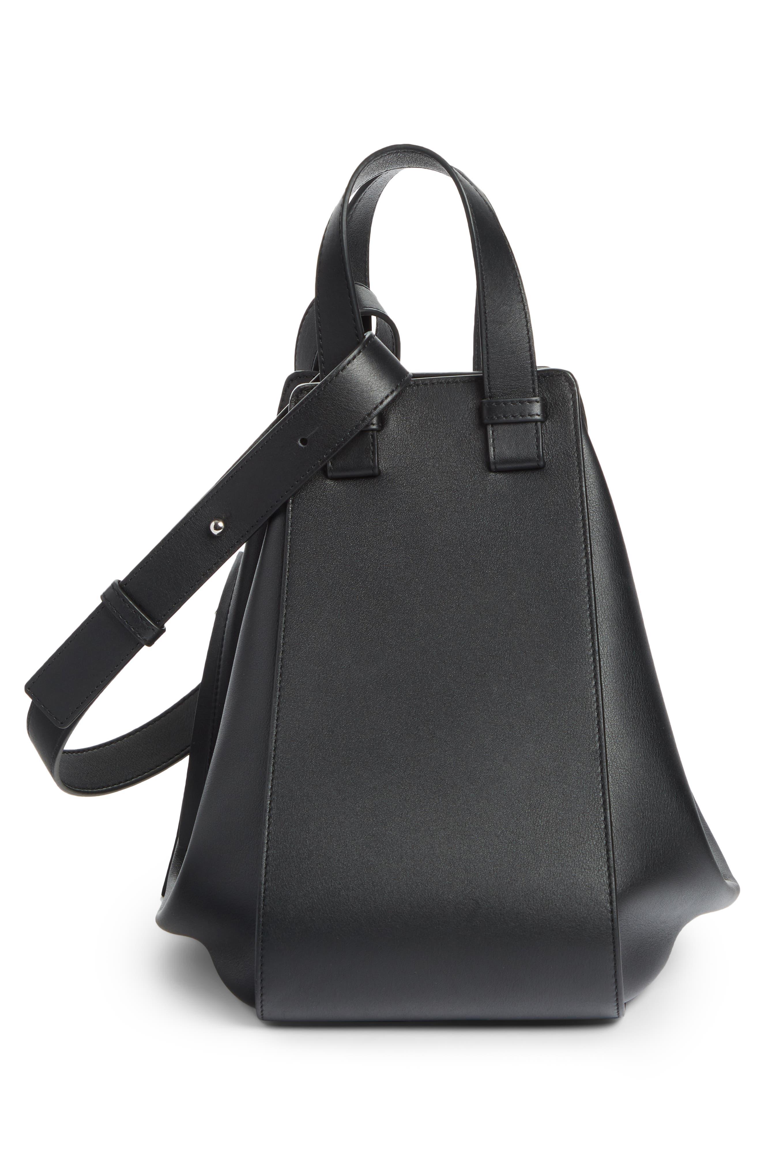 Medium Hammock Calfskin Leather Shoulder Bag,                             Alternate thumbnail 3, color,                             BLACK