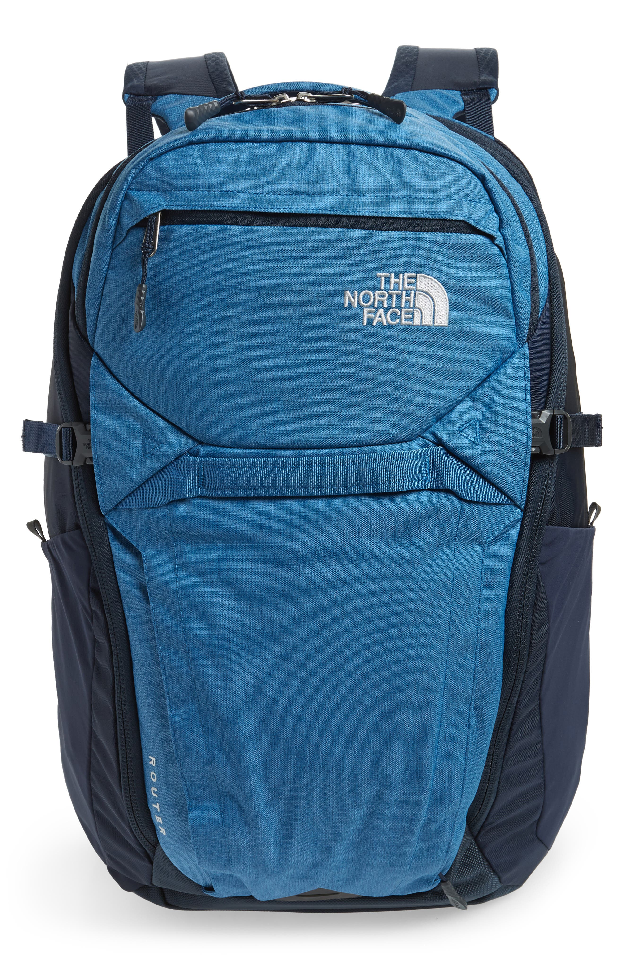 THE NORTH FACE,                             Router Backpack,                             Main thumbnail 1, color,                             DISH BLUE HEATHER/ URBAN NAVY