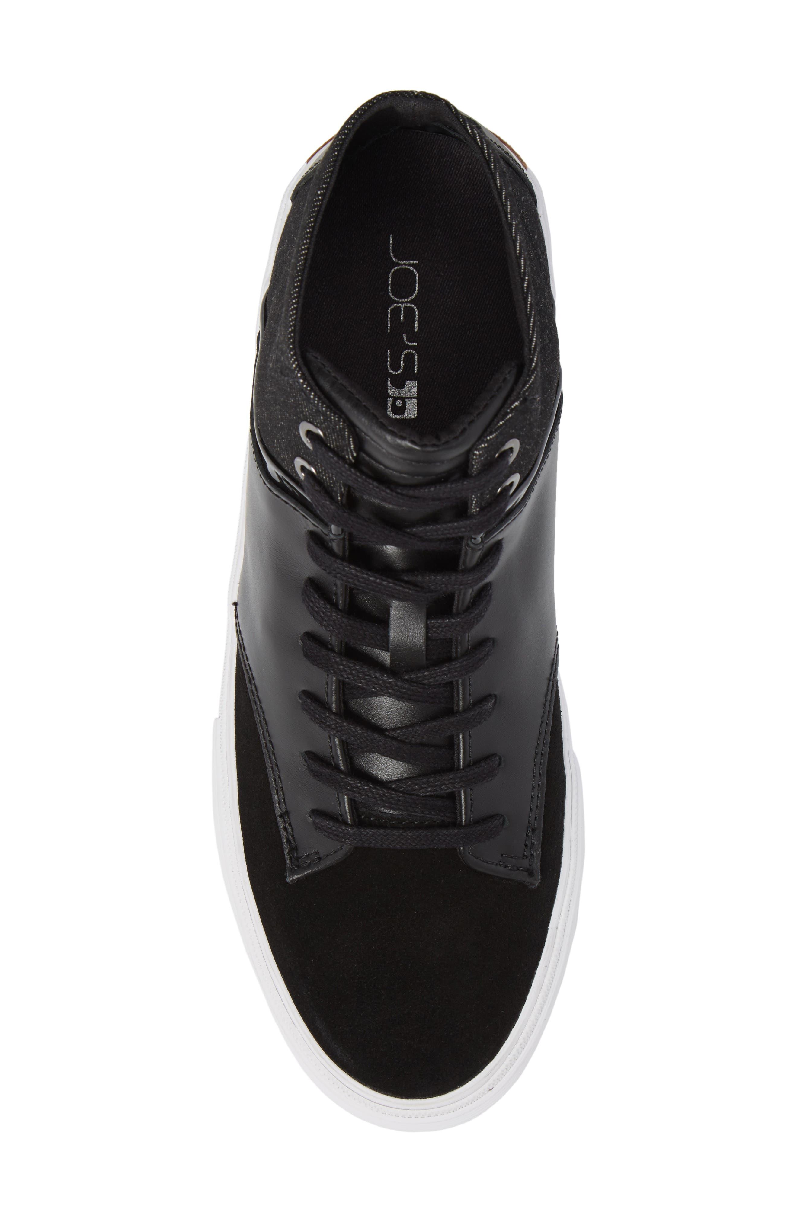 Joe Mac High Top Sneaker,                             Alternate thumbnail 5, color,                             001