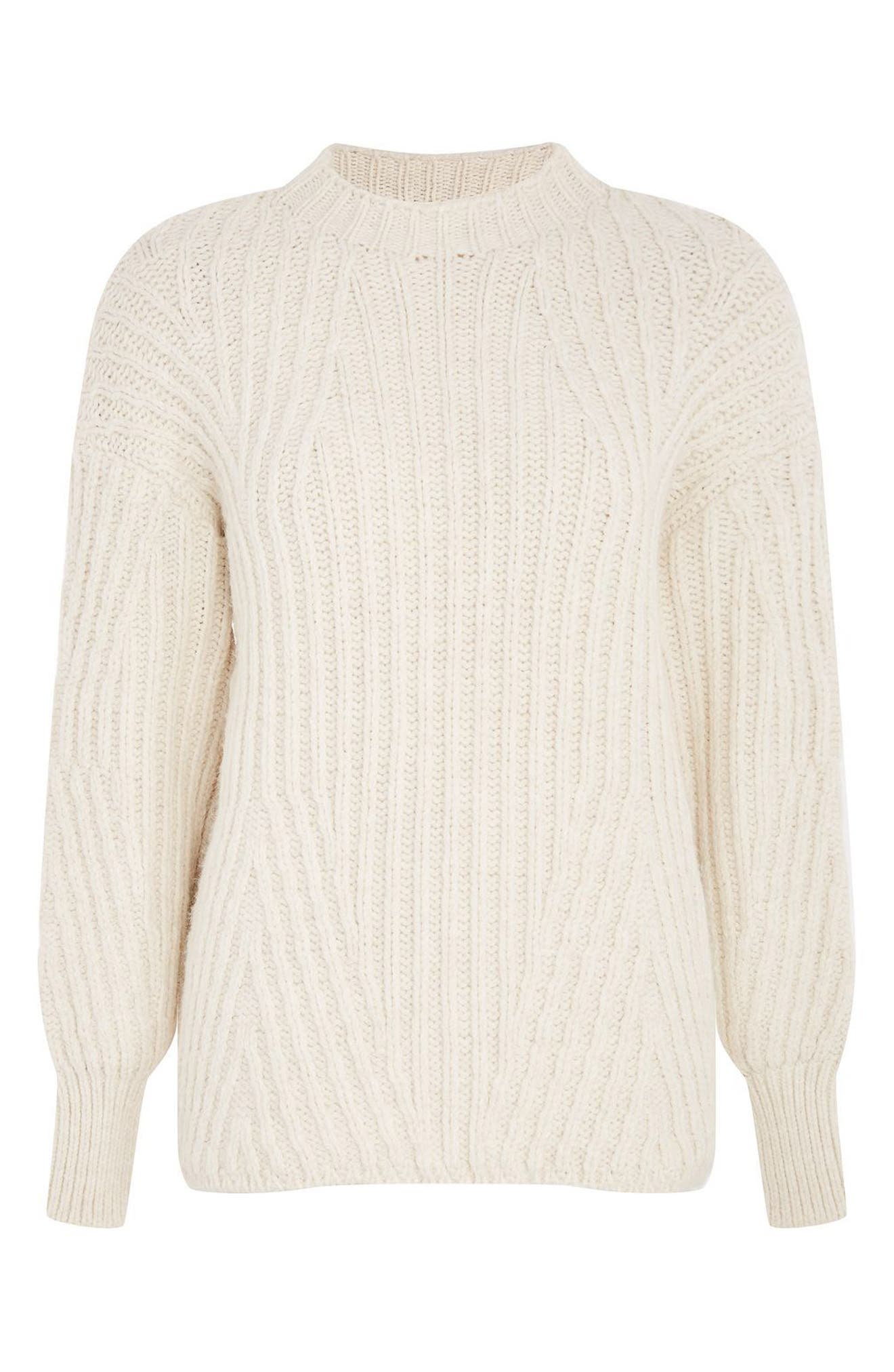 Deflected Rib Sweater,                             Alternate thumbnail 3, color,                             900