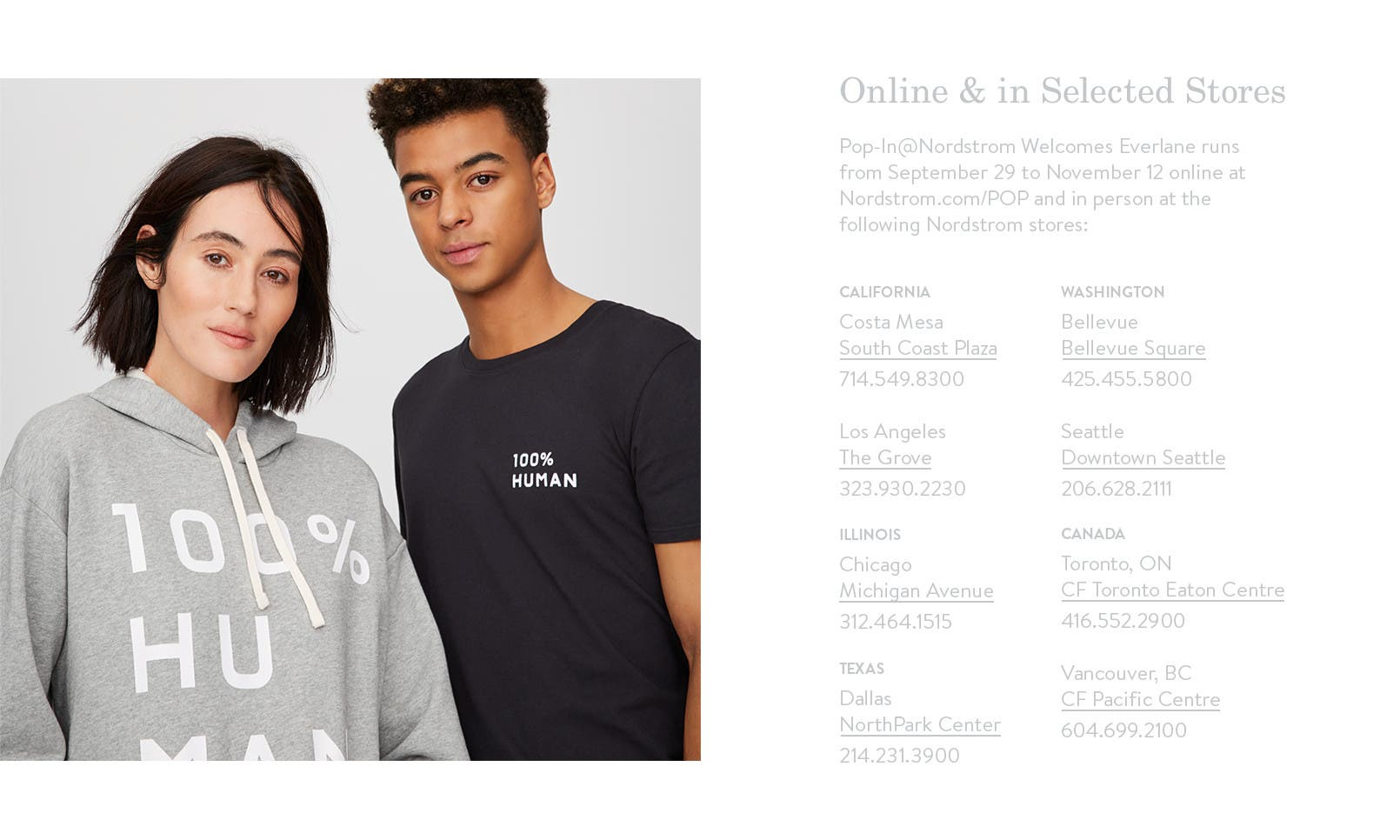 Online and in selected stores.