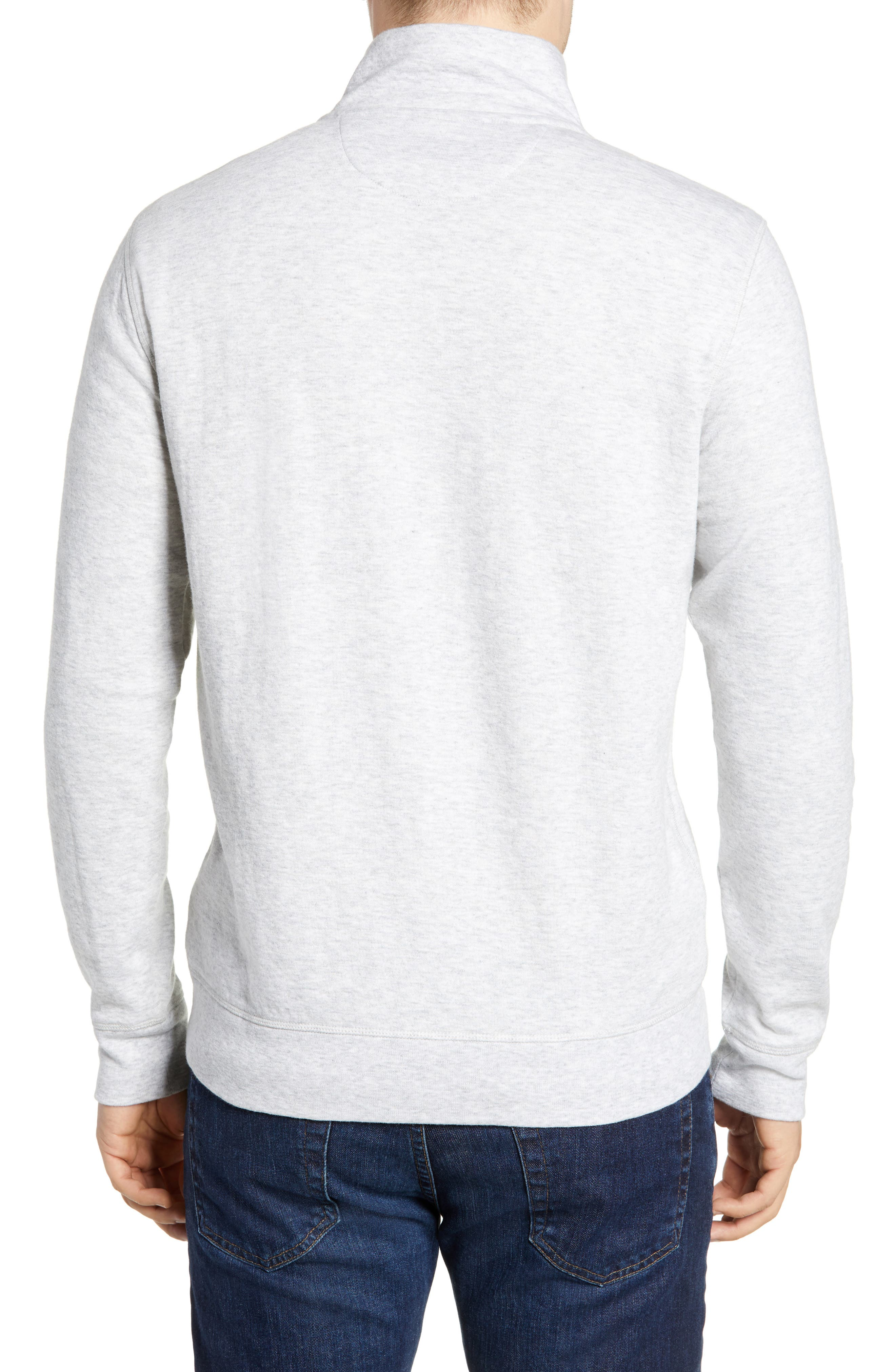 Brand Dual Knit Regular Fit Quarter Zip Pullover,                             Alternate thumbnail 2, color,                             ATHLETIC GREY