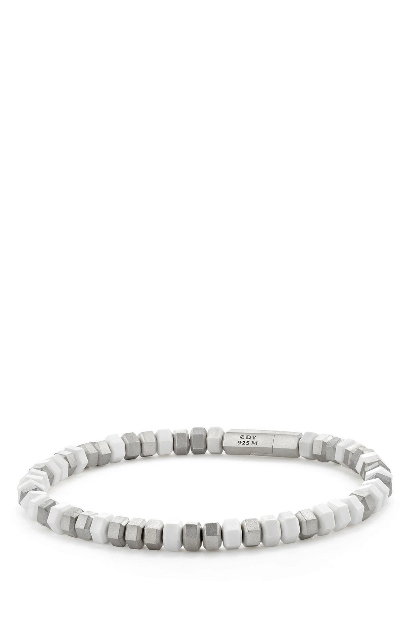 Hex Bead Bracelet,                         Main,                         color, WHITE