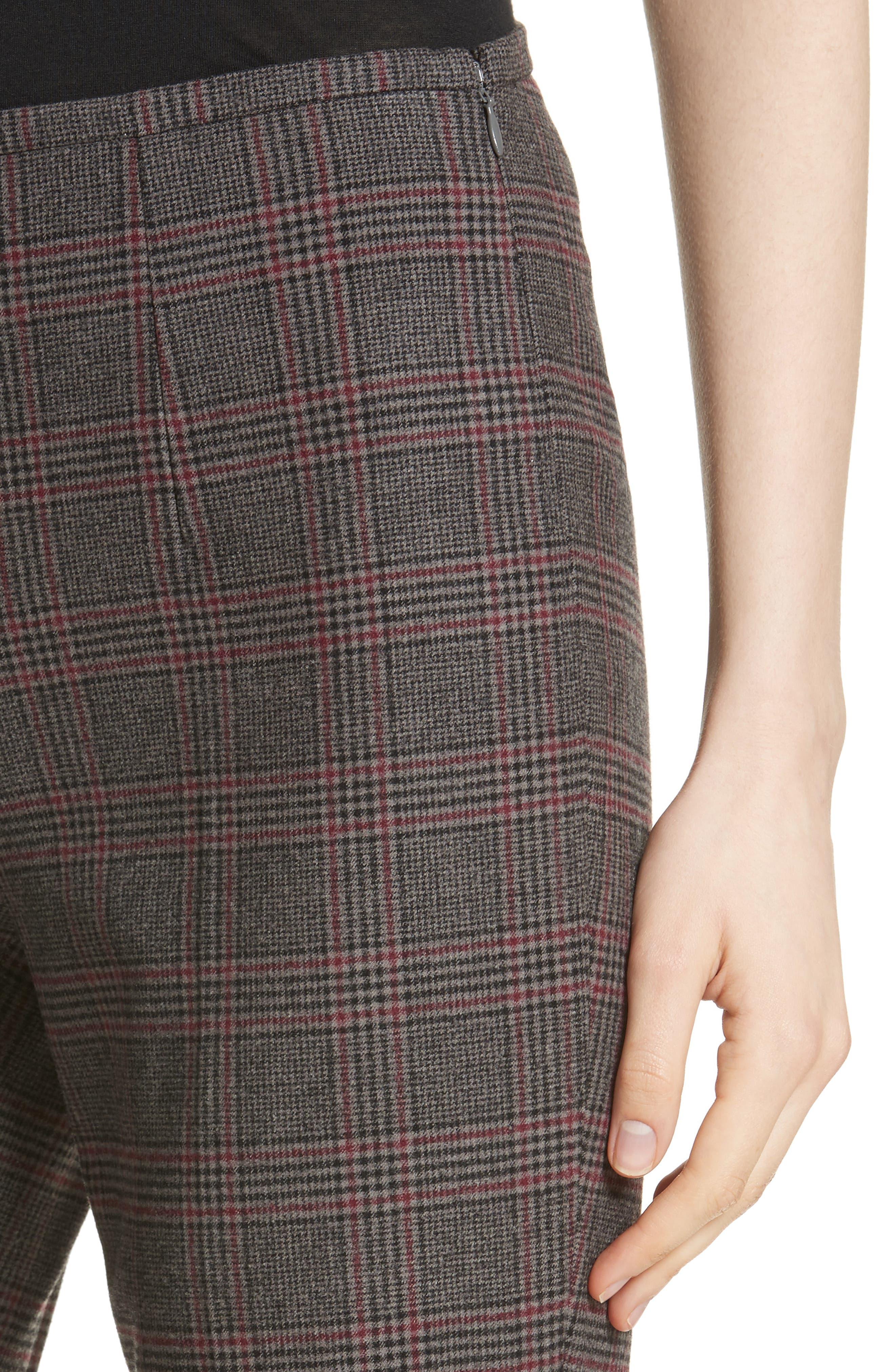 MICHAEL KORS,                             Plaid Stretch Wool Flannel Pants,                             Alternate thumbnail 4, color,                             034