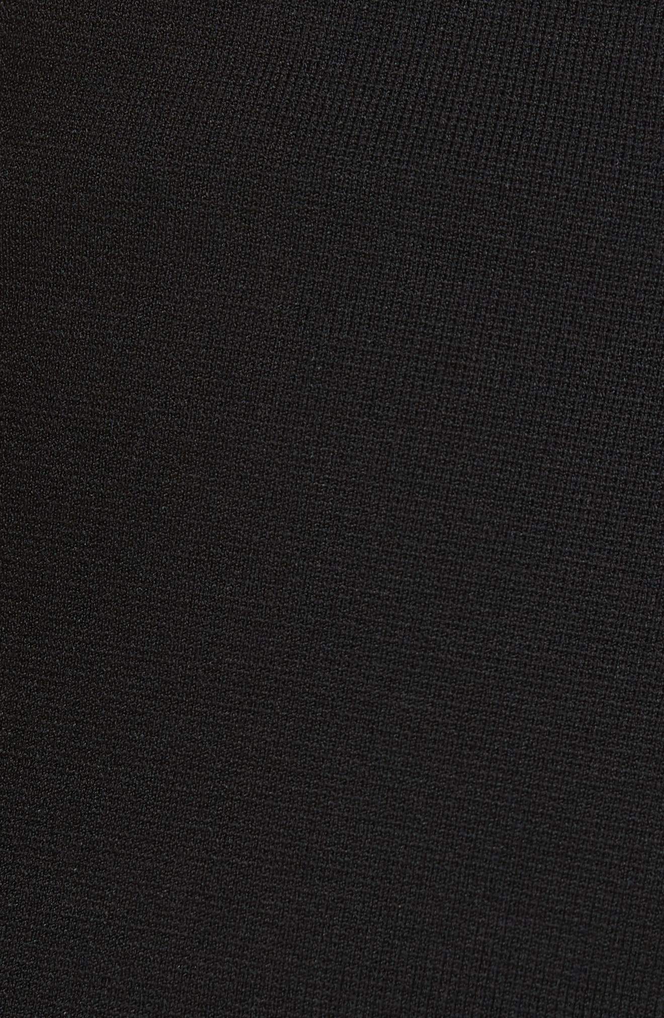 Roland Side Stripe Wide Leg Pants,                             Alternate thumbnail 6, color,                             BLACK