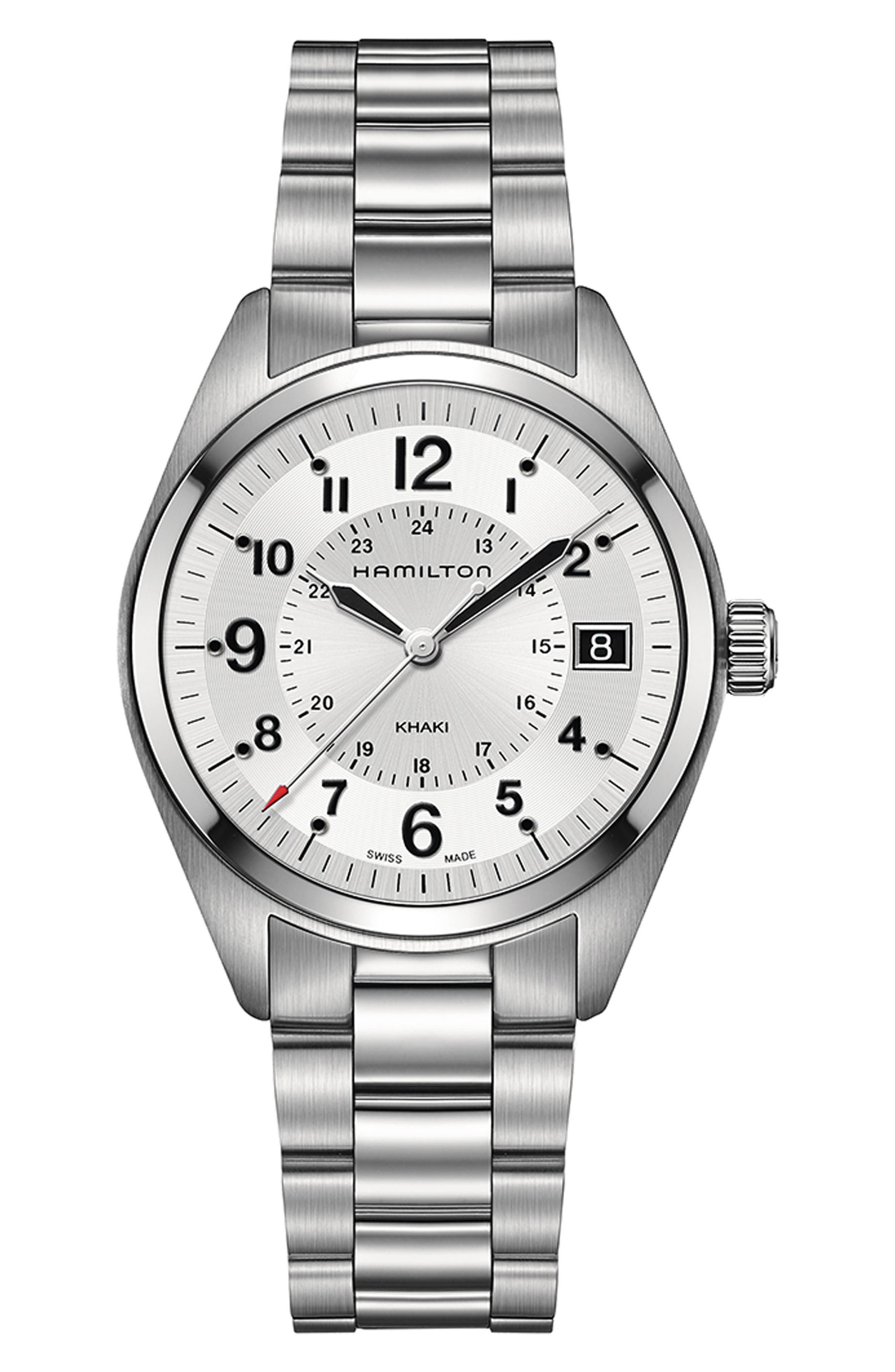 Khaki Field Bracelet Watch, 40mm,                             Main thumbnail 1, color,                             040