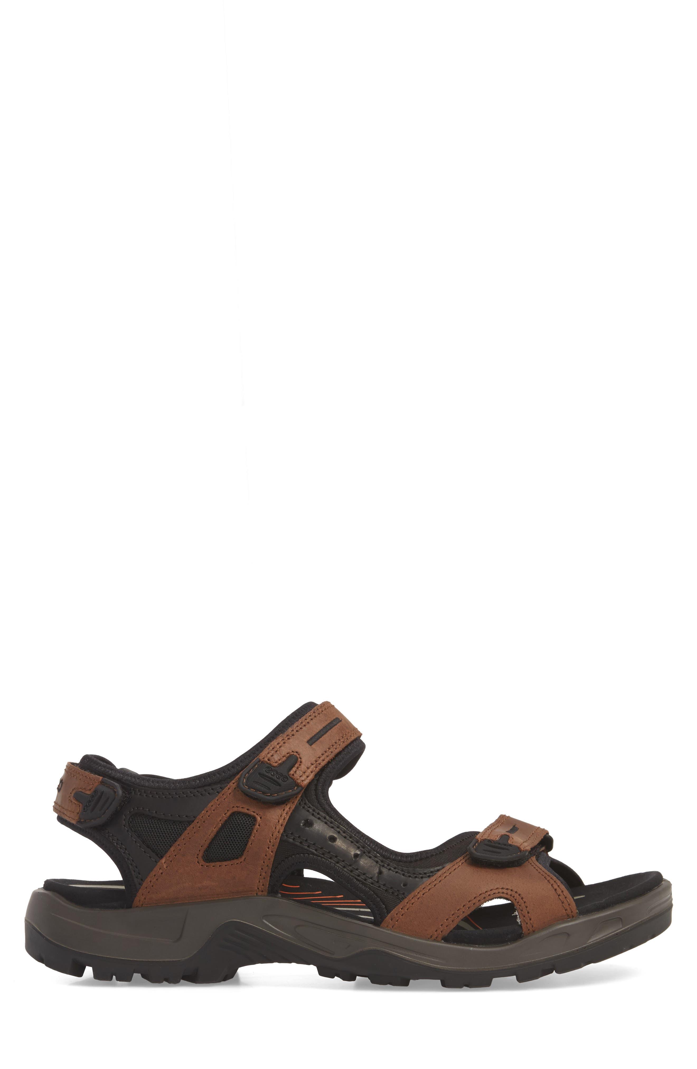 'Yucatan' Sandal,                             Alternate thumbnail 4, color,                             BROWN/BLACK
