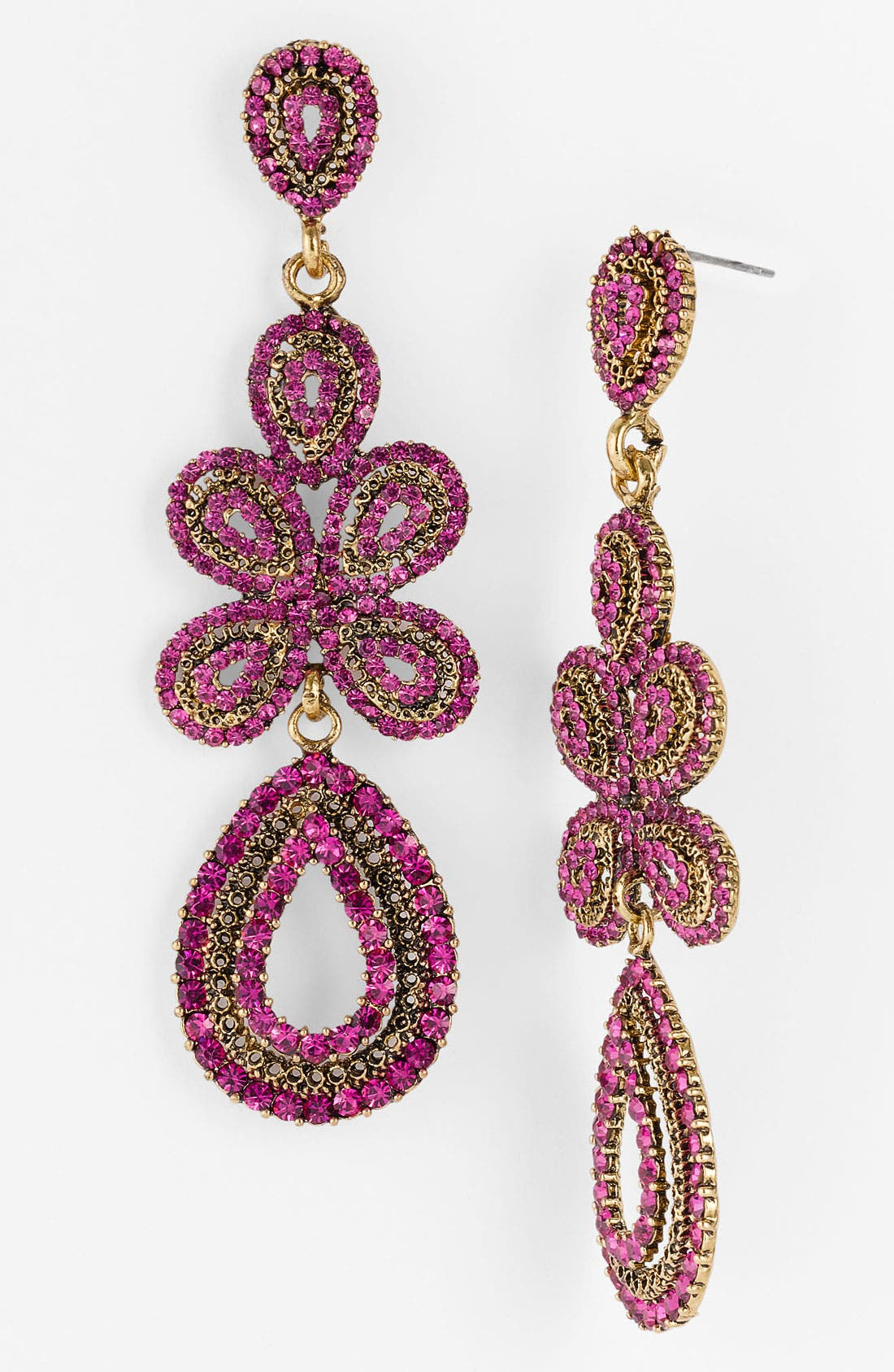 'Ornate' Linear Statement Earrings,                             Main thumbnail 14, color,