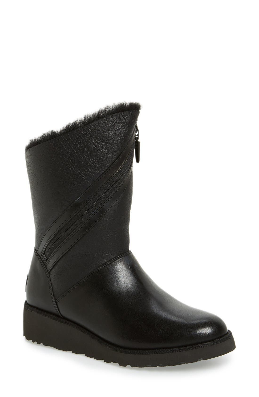 'Lorna' Wedge Boot, Main, color, 001