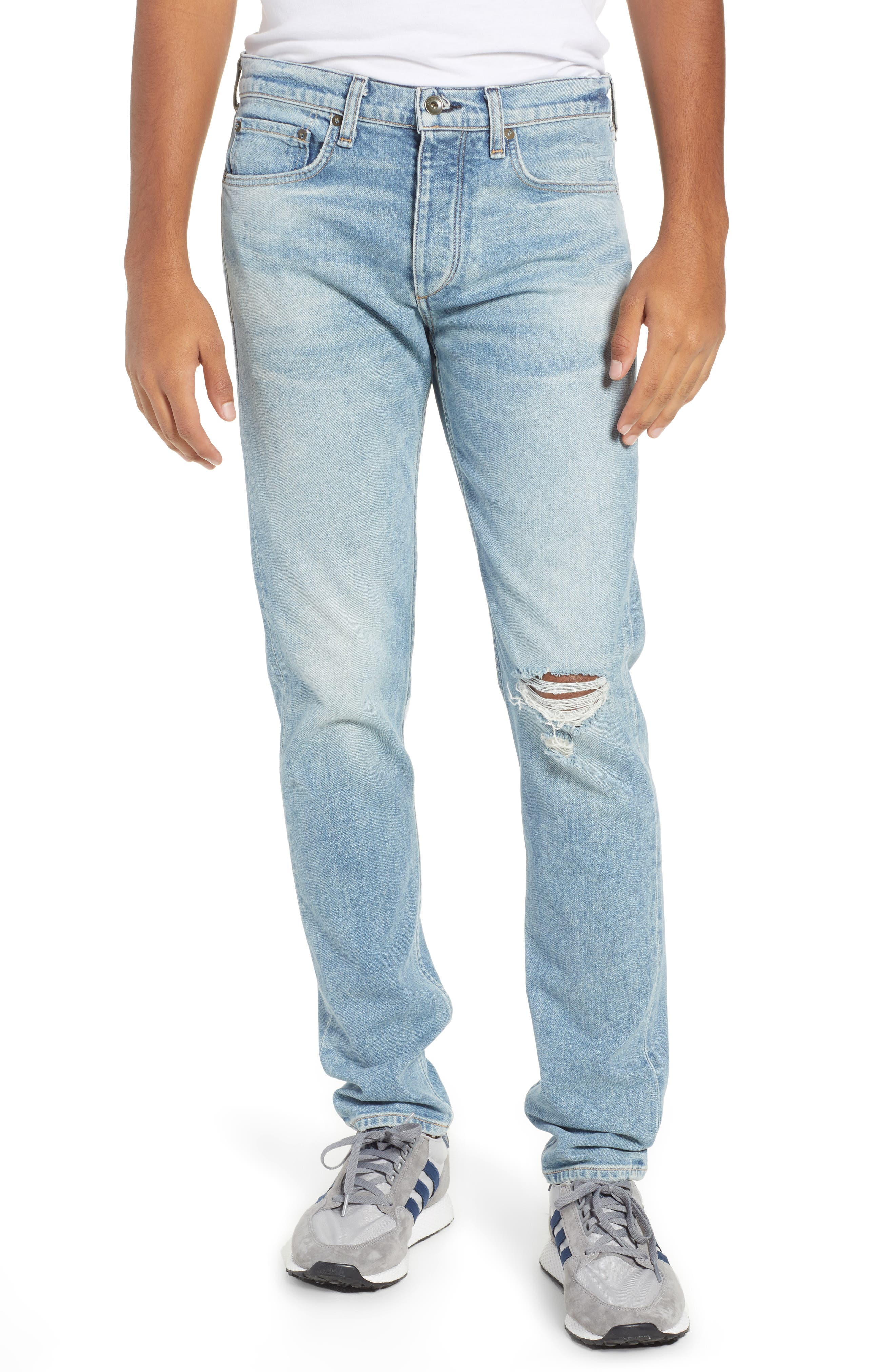 Fit 2 Slim Fit Jeans,                         Main,                         color, JAMIE WITH HOLES