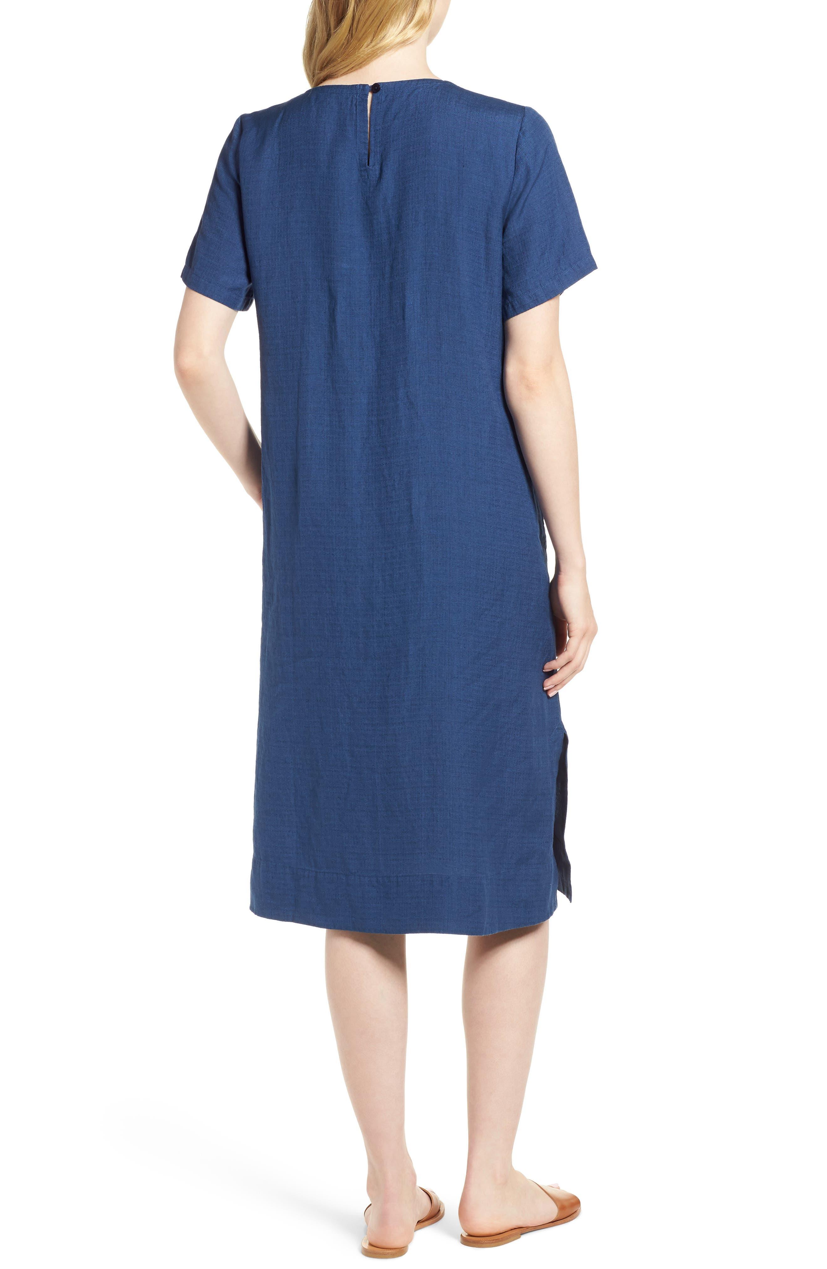 Linen Blend Shift Dress,                             Alternate thumbnail 2, color,                             480
