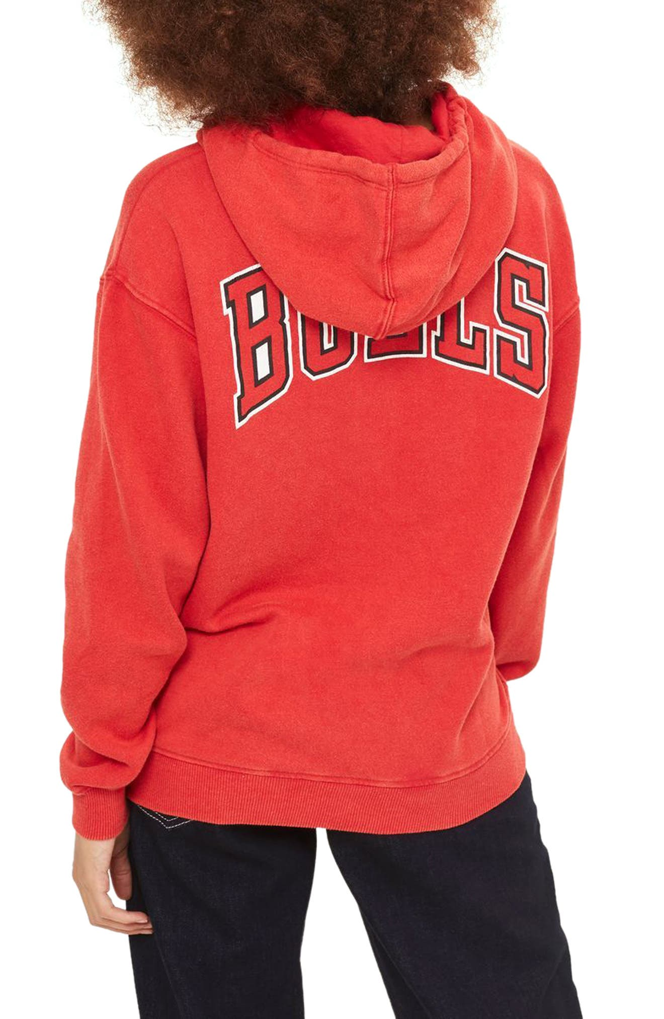 TOPSHOP,                             by x UNX Chicago Bulls Hoodie,                             Alternate thumbnail 2, color,                             601