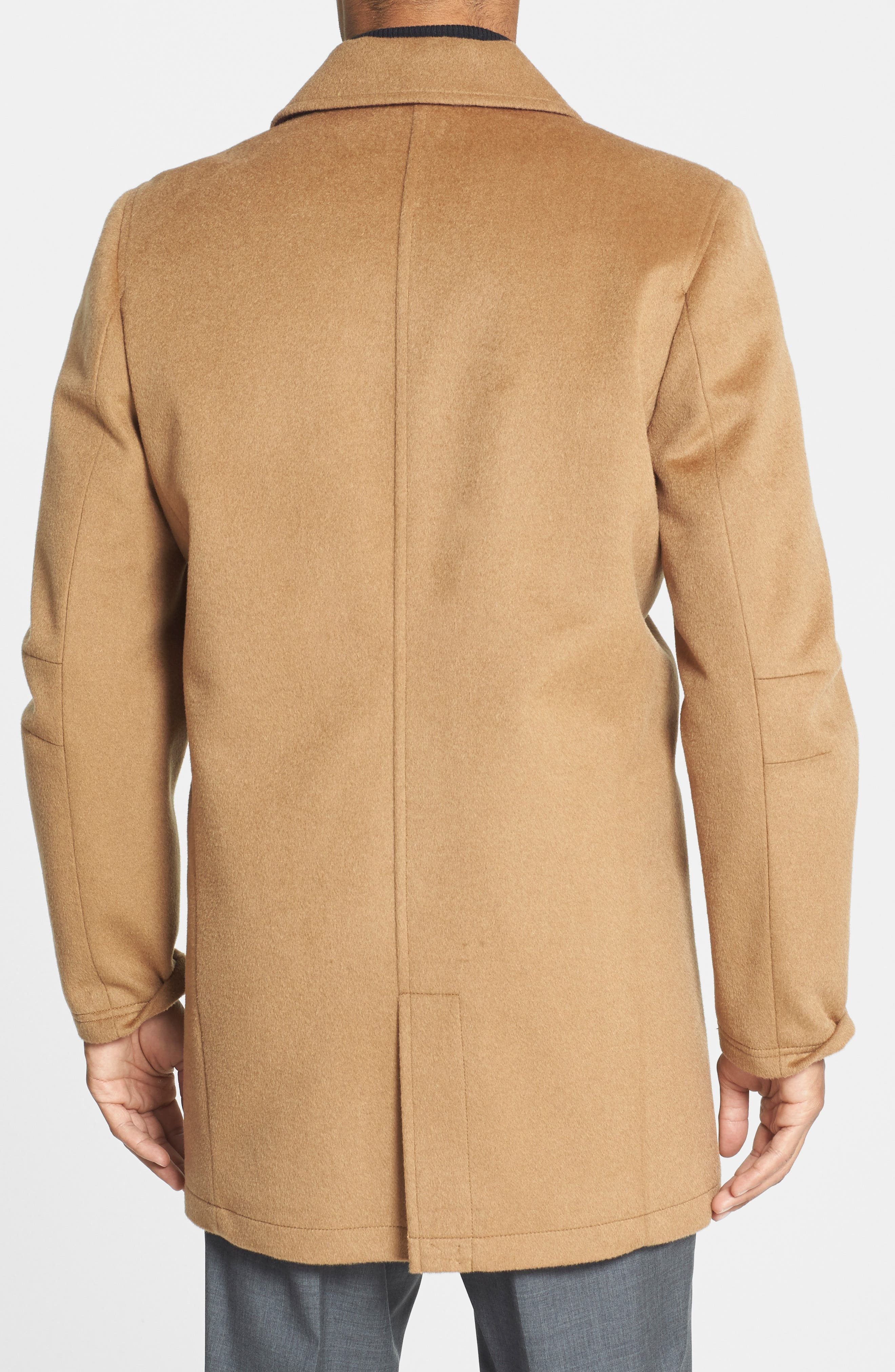 Water Repellent Wool Blend Car Coat,                             Alternate thumbnail 12, color,