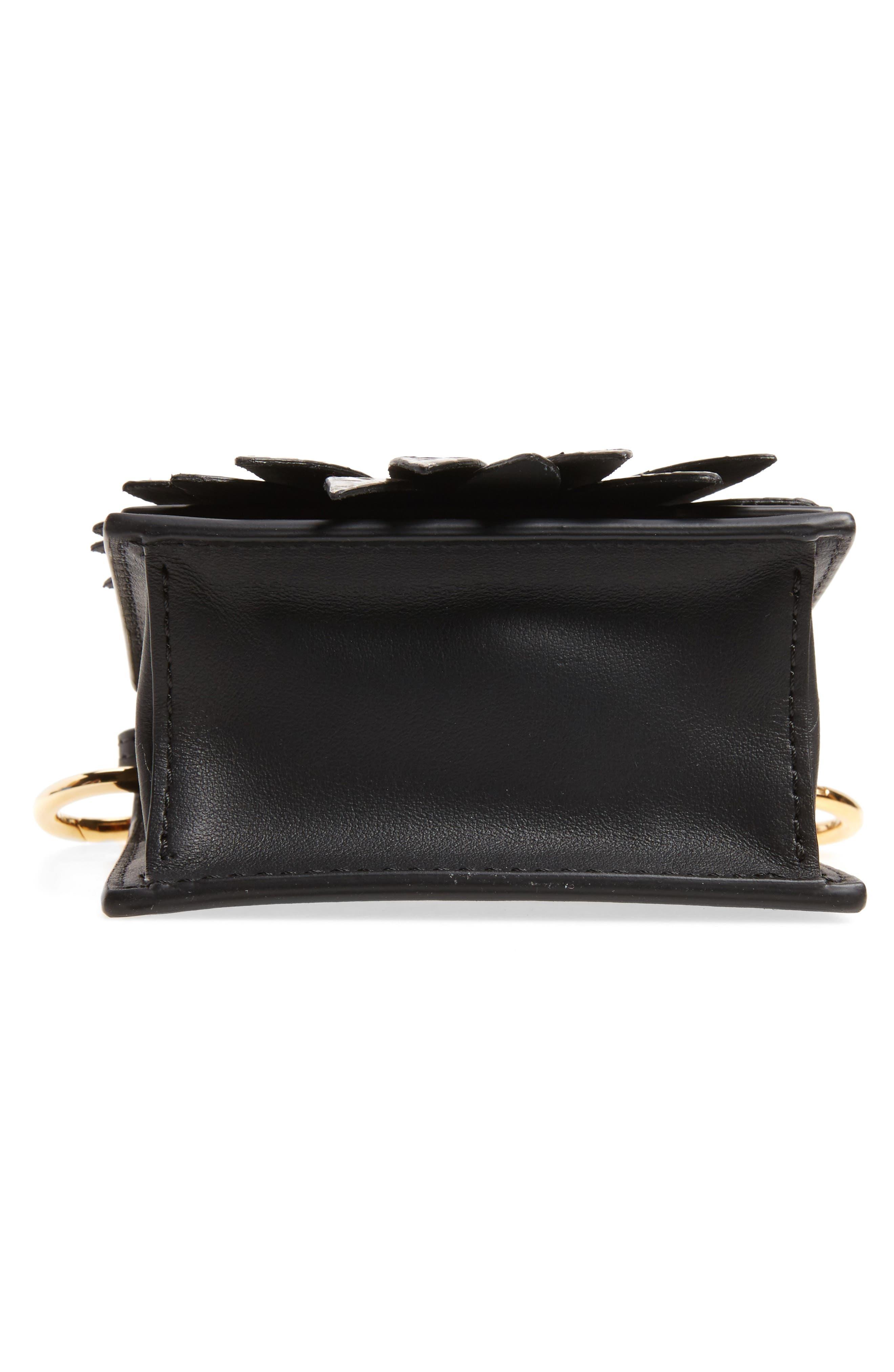 Mini Kan I Crossbody Bag with Genuine Python Trim,                             Alternate thumbnail 6, color,                             004