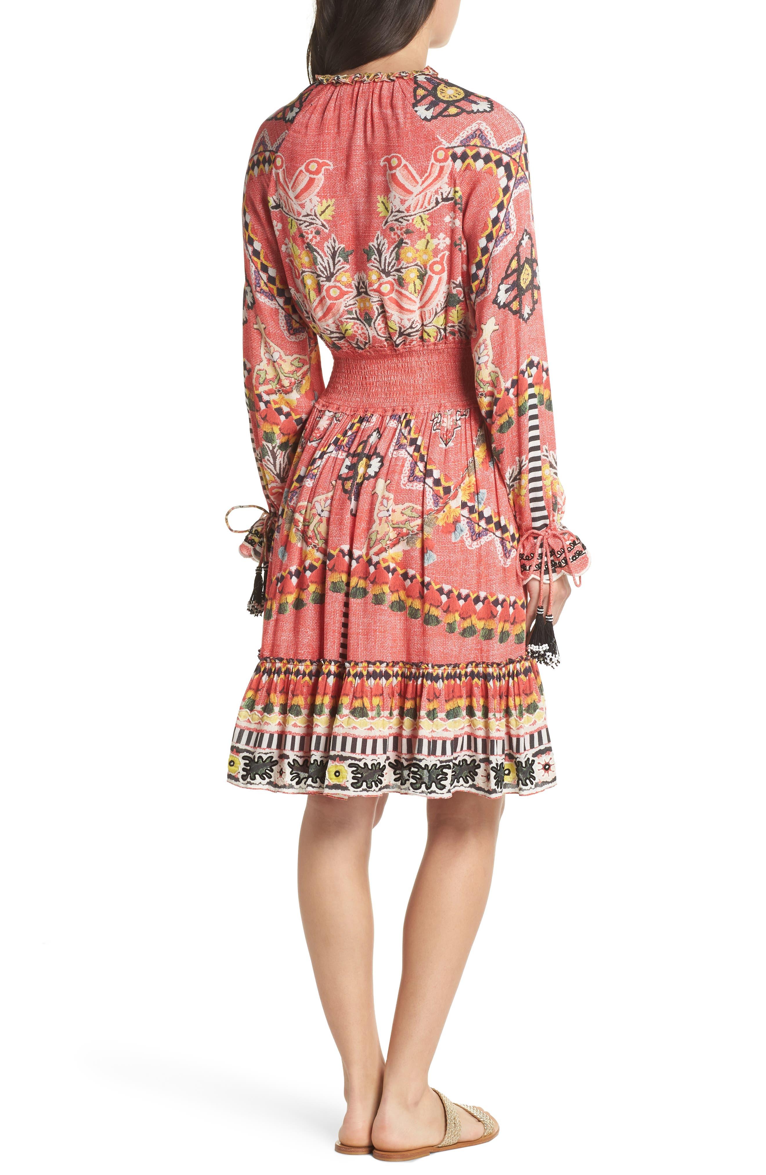 Hemant & Nandita Short Cover-Up Dress,                             Alternate thumbnail 2, color,                             605