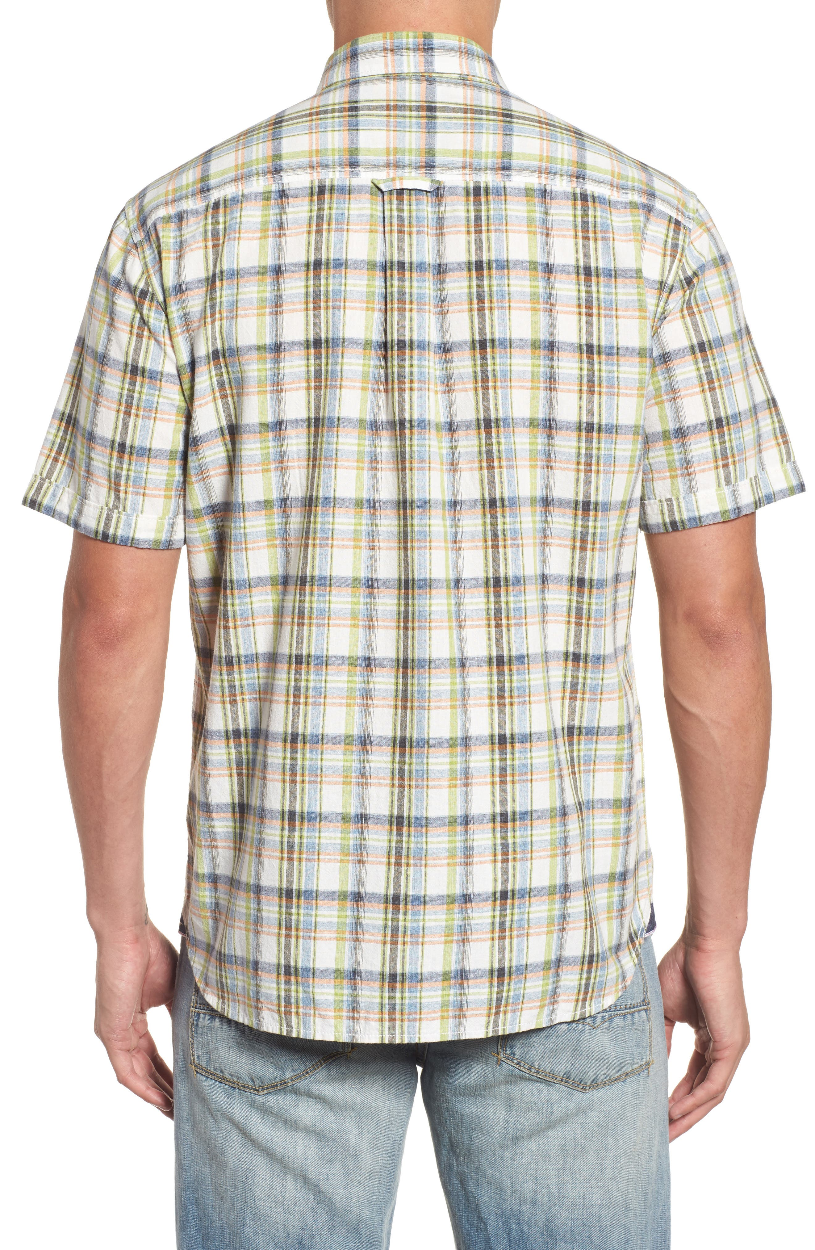 Ocean Cay Plaid Sport Shirt,                             Alternate thumbnail 2, color,                             300