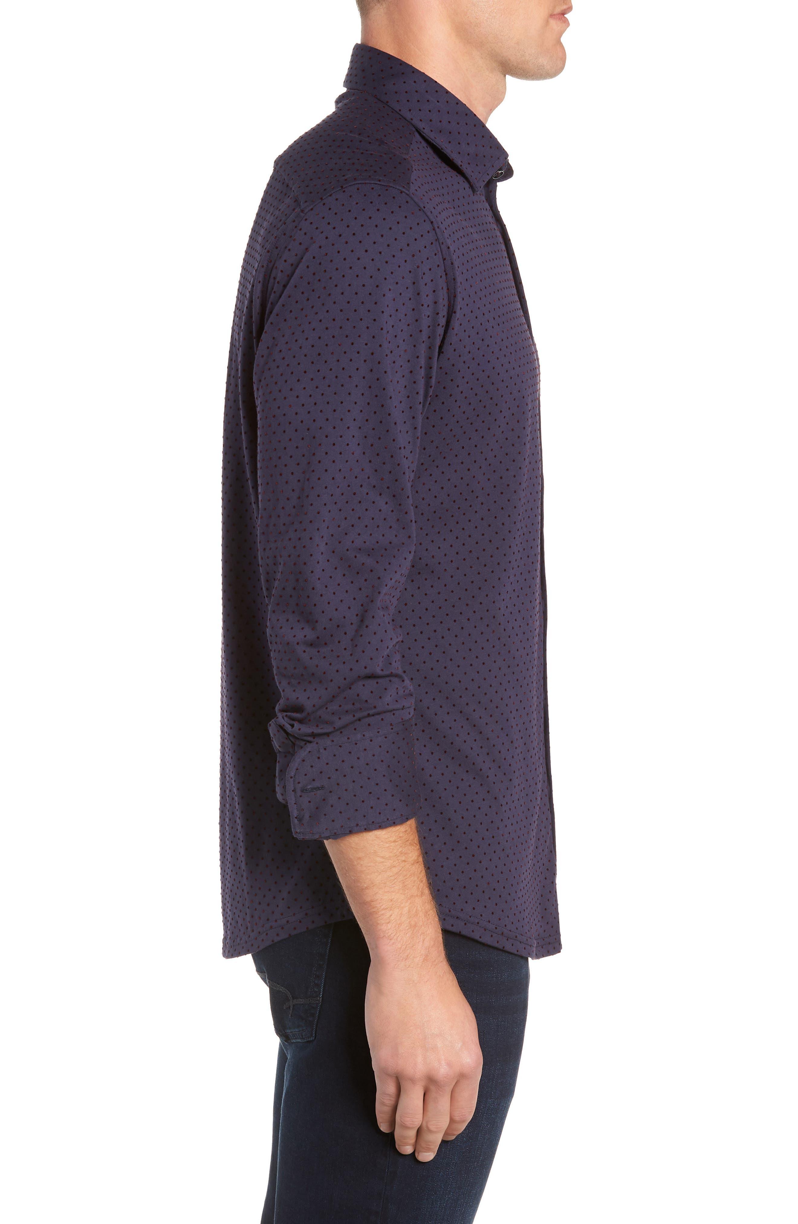 STONE ROSE,                             Regular Fit Knit Sport Shirt,                             Alternate thumbnail 4, color,                             NAVY