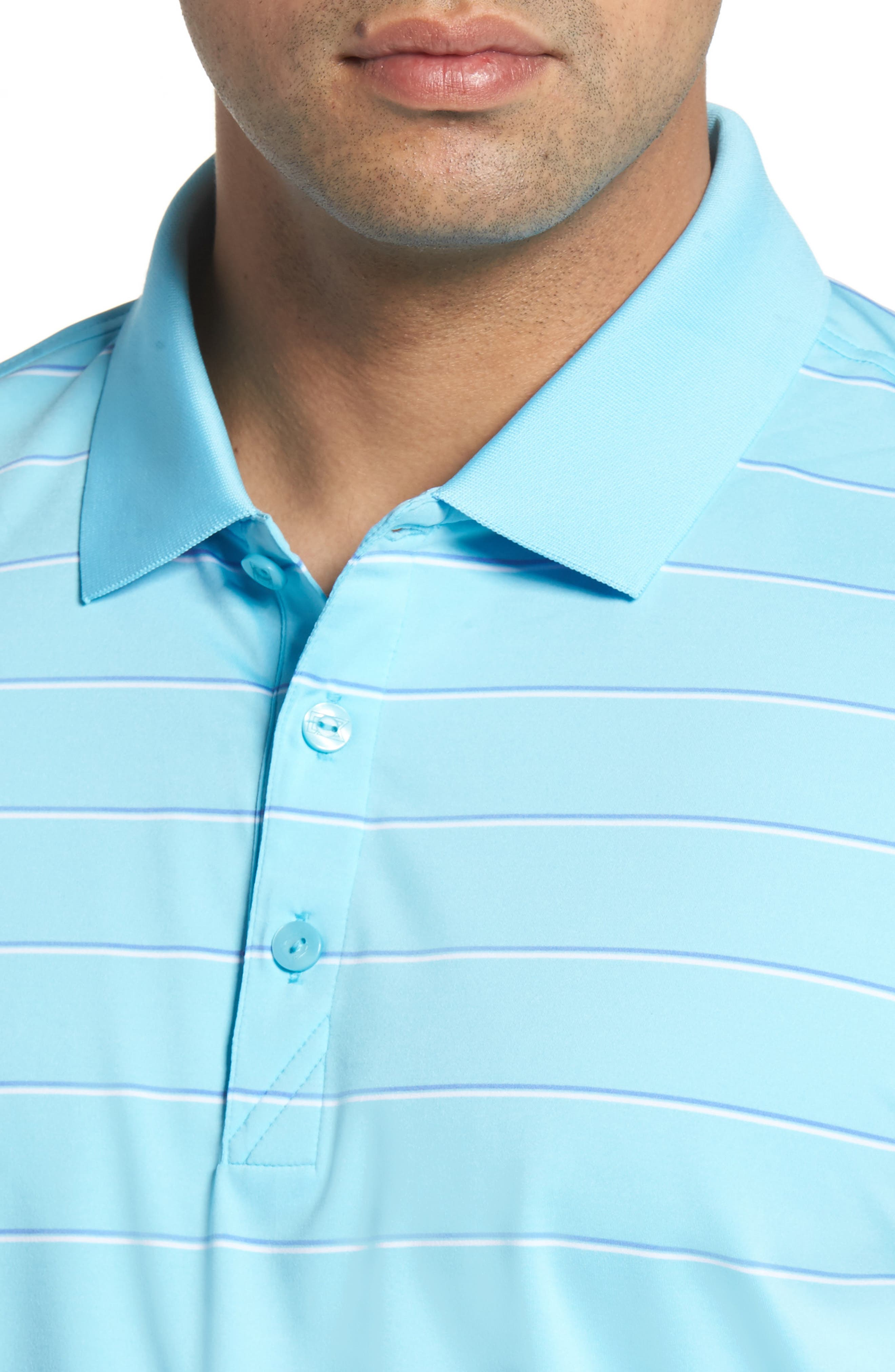 Friday Harbor Stripe Polo,                             Alternate thumbnail 4, color,                             449