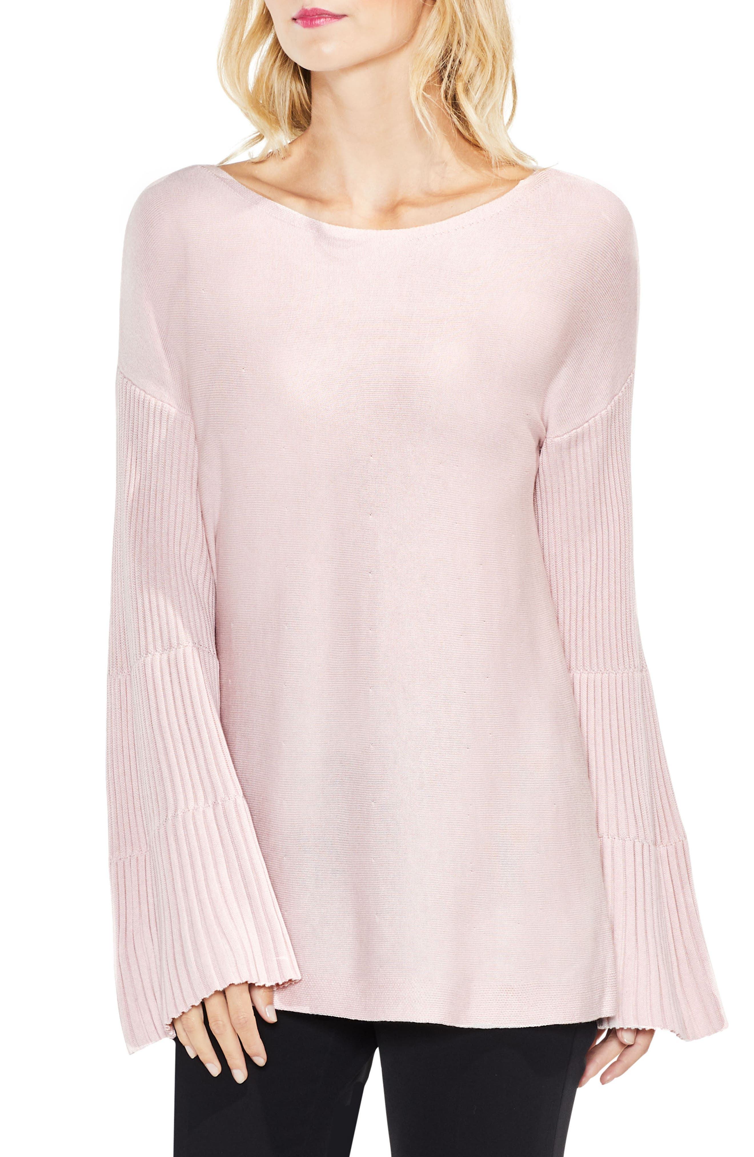 Bell Sleeve Ribbed Sweater,                             Main thumbnail 10, color,