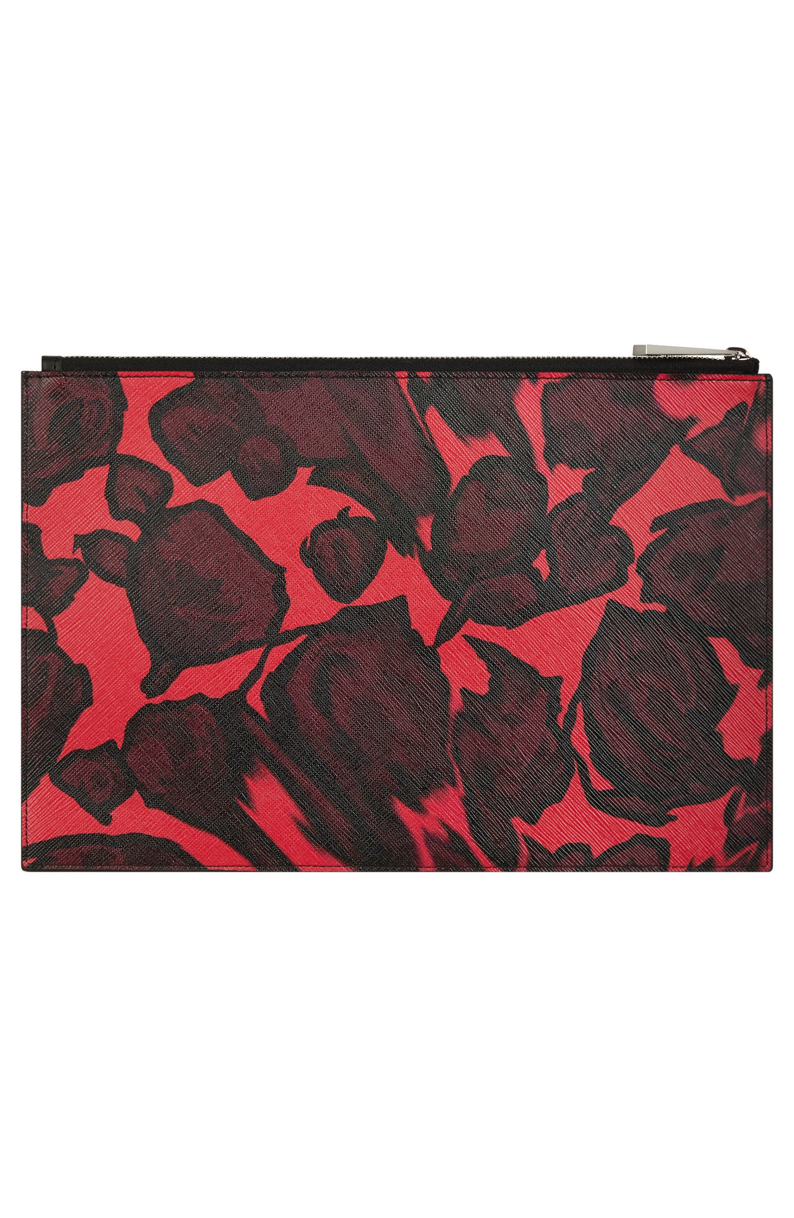 Iconic - Rose Print Pouch,                             Alternate thumbnail 2, color,                             600