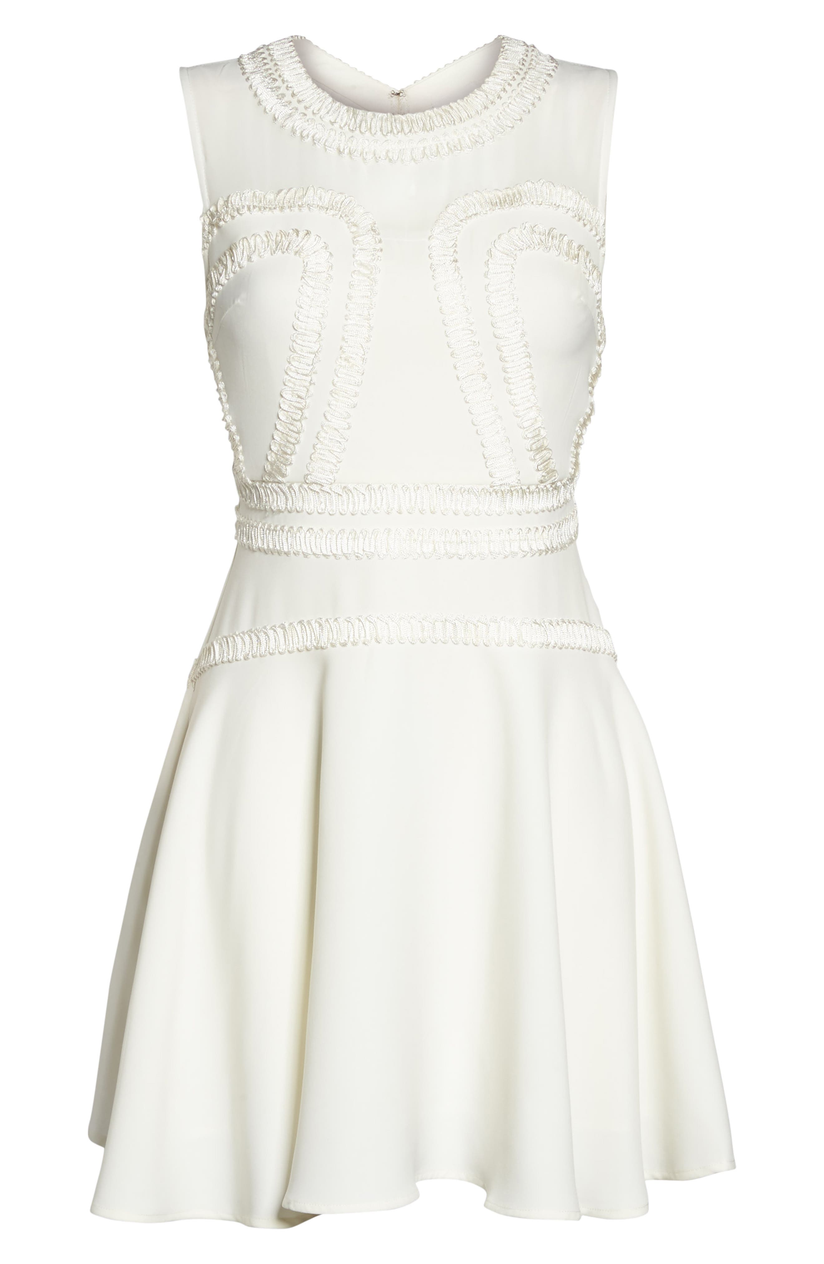 Aviana Fit & Flare Dress,                             Alternate thumbnail 6, color,                             902