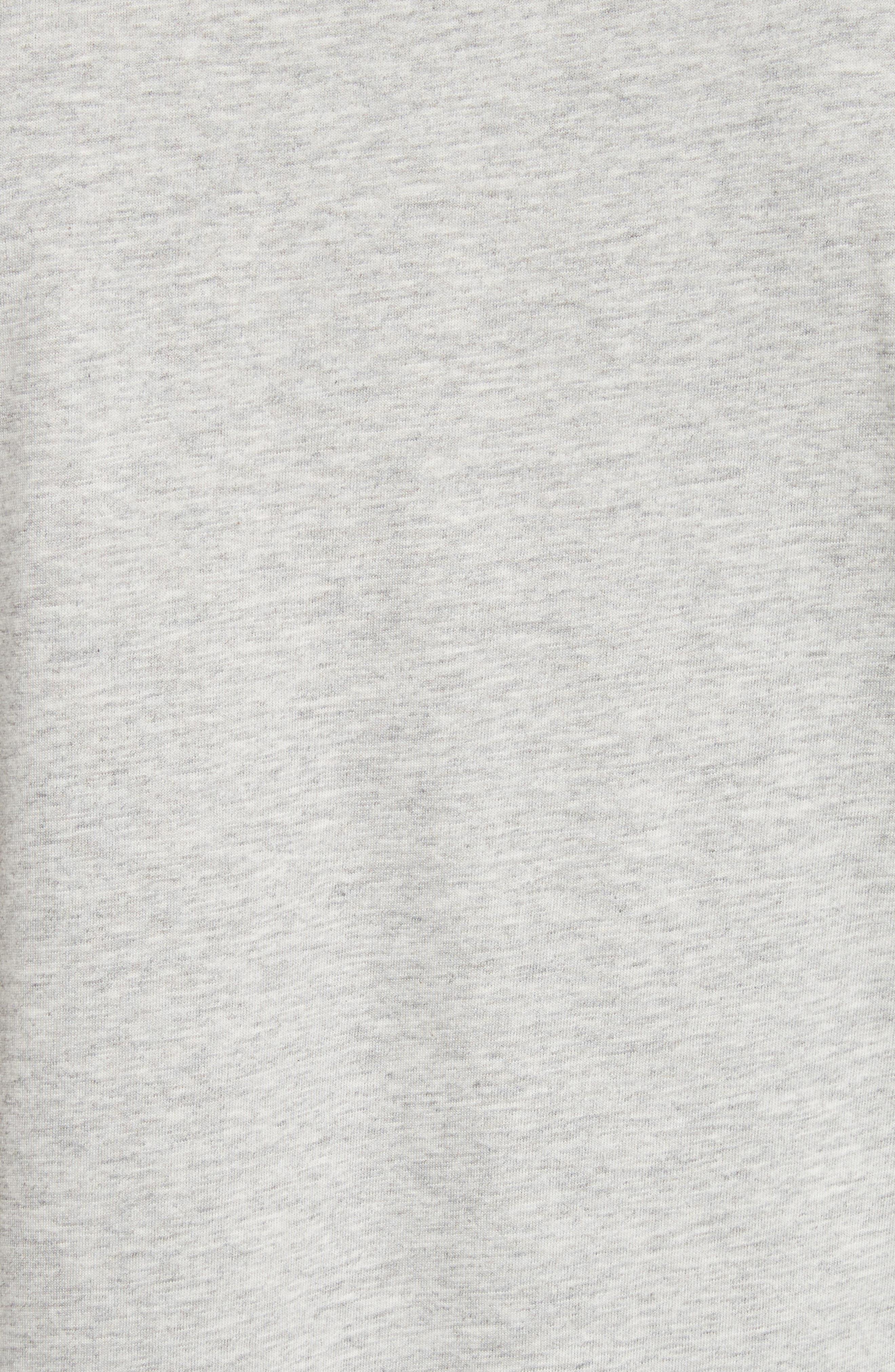 Jadforth V-Neck T-Shirt,                             Alternate thumbnail 5, color,                             PALE GREY MELANGE