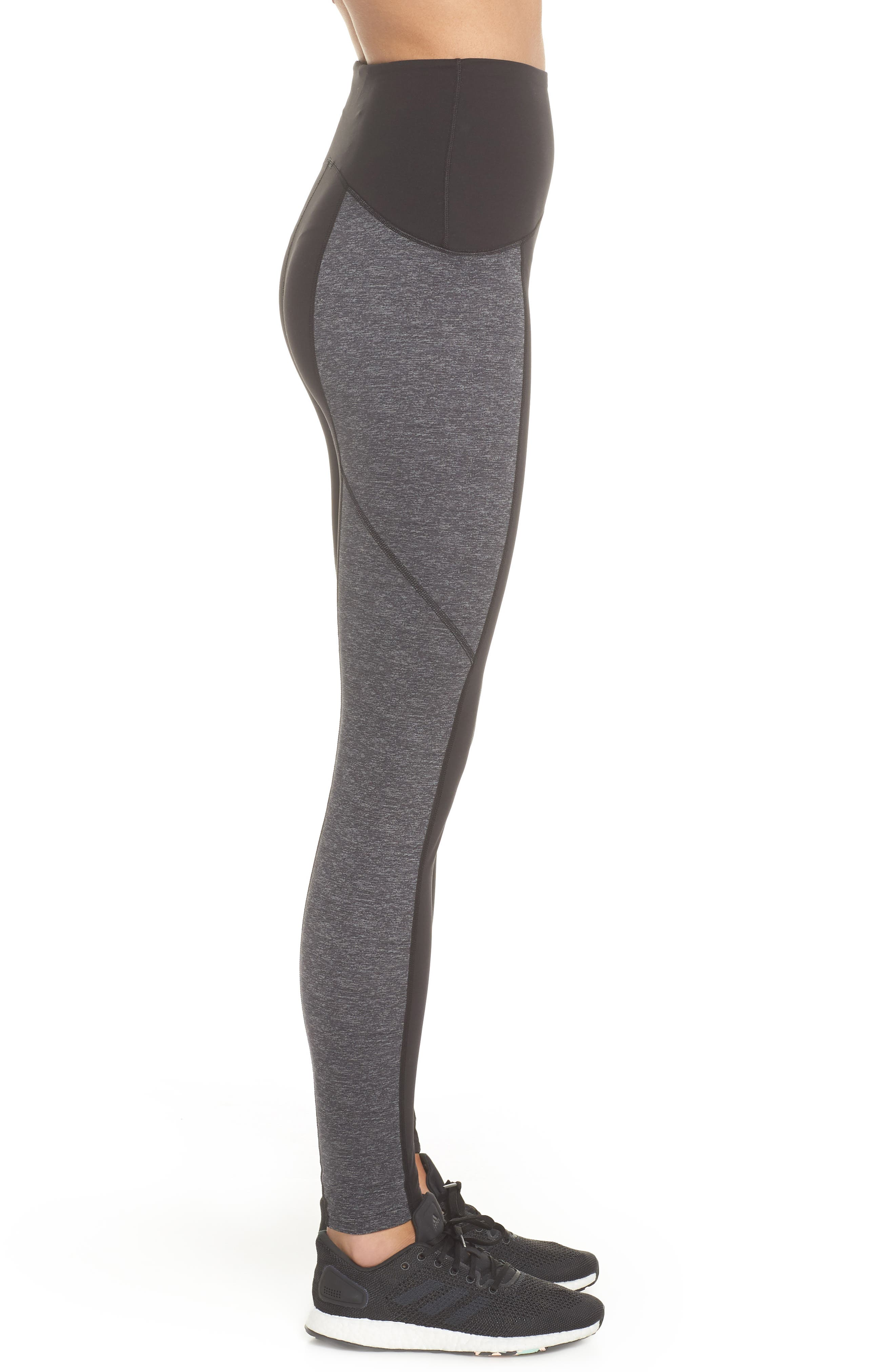 Colorblock Active Leggings,                             Alternate thumbnail 3, color,                             MARLED HEATHER
