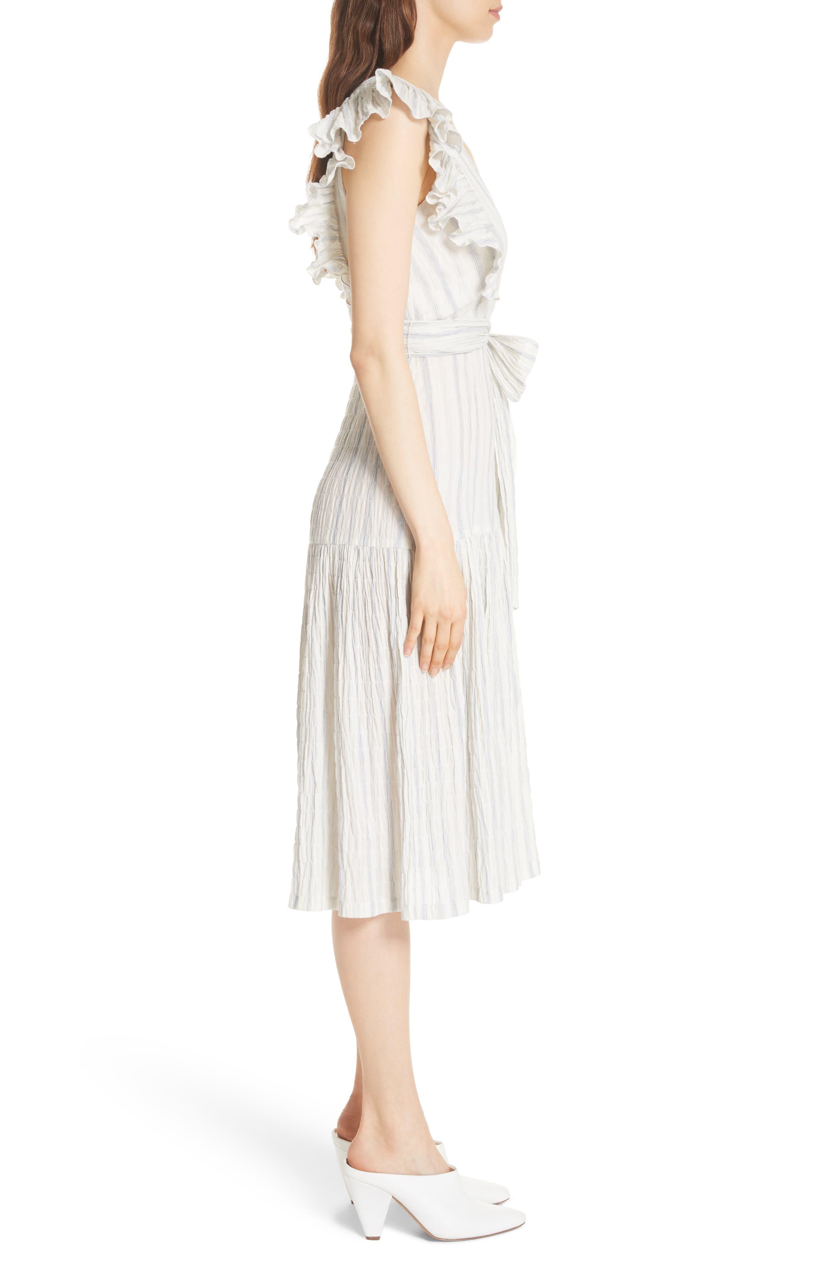 Stripe Midi Dress,                             Alternate thumbnail 3, color,                             103