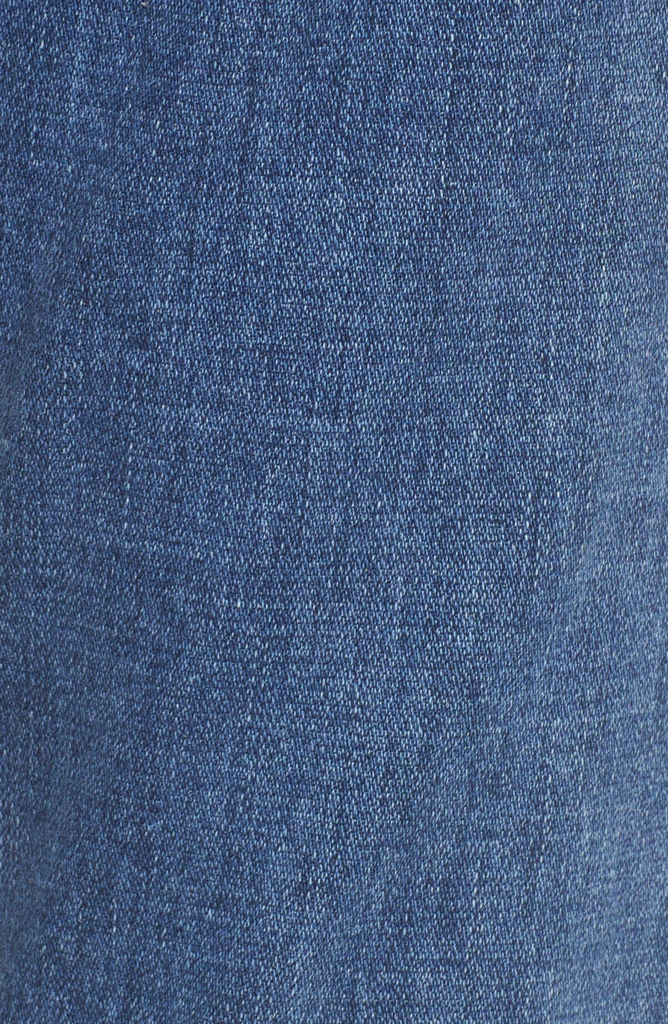 Step Hem Ankle Skinny Jeans,                             Alternate thumbnail 5, color,                             400