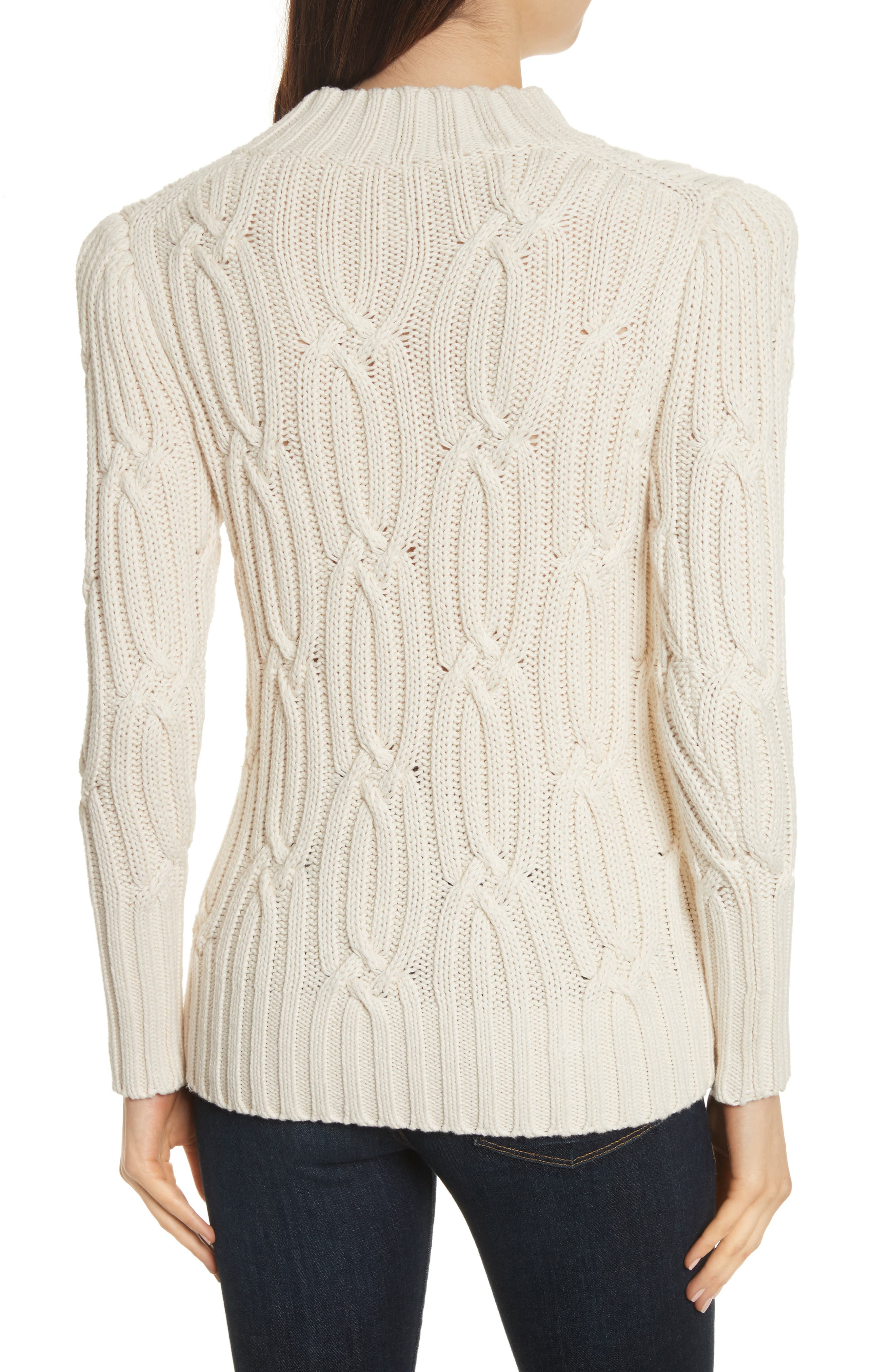 Cable Knit Sweater,                             Alternate thumbnail 2, color,                             113