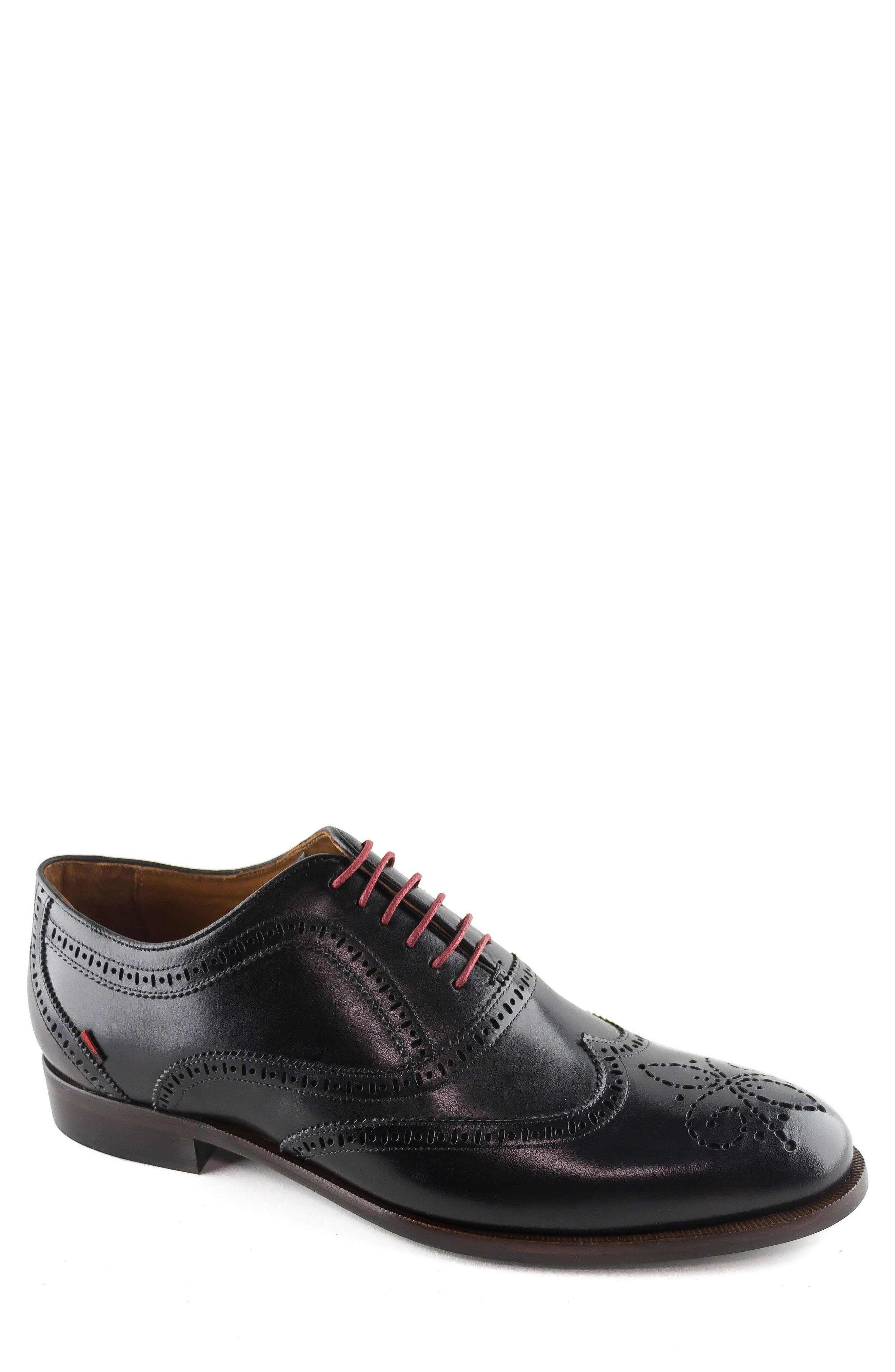 Madison Wingtip Oxford,                         Main,                         color, BLACK