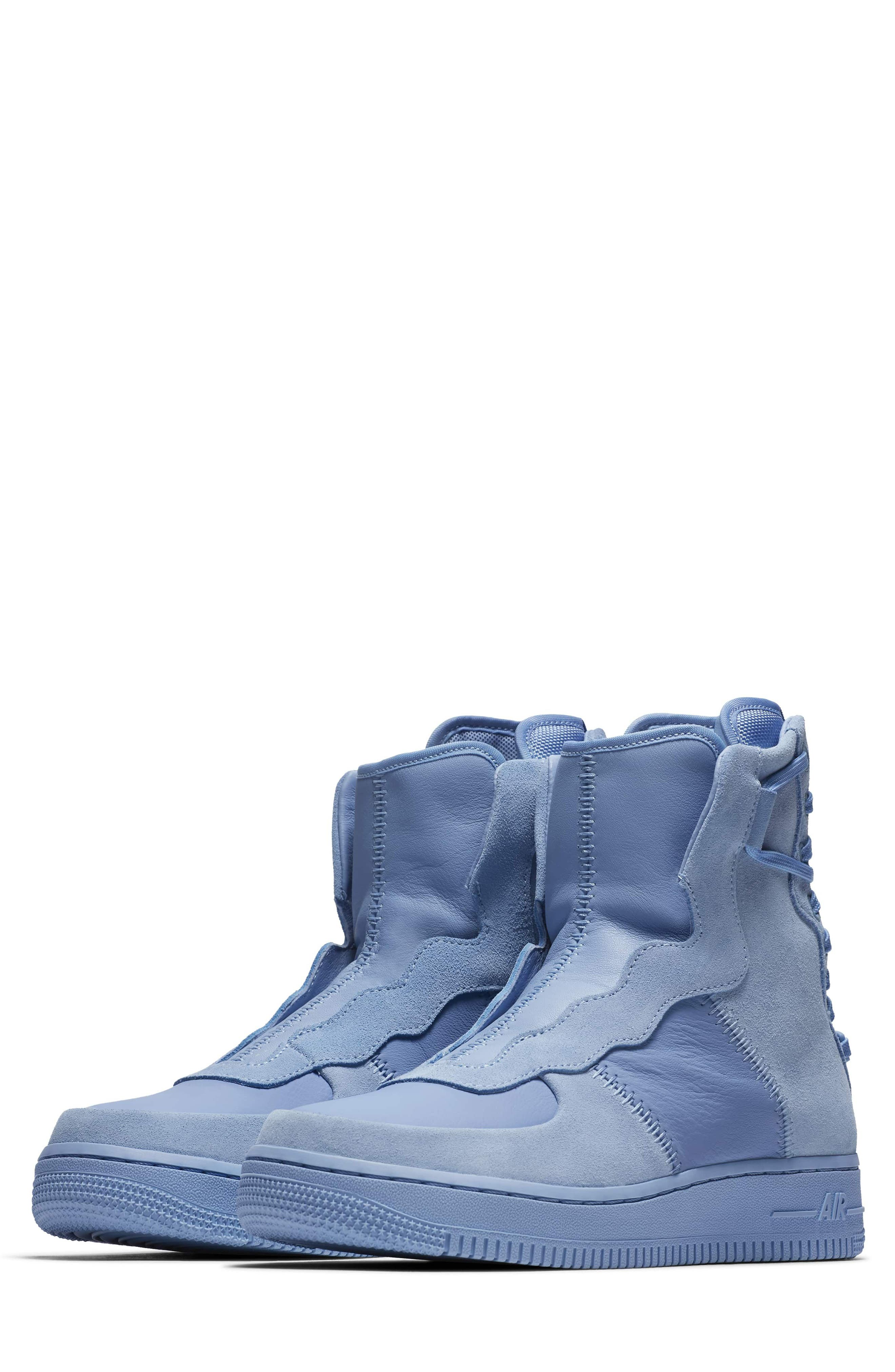 Air Force 1 Rebel XX High Top Sneaker,                             Main thumbnail 1, color,                             LIGHT BLUE